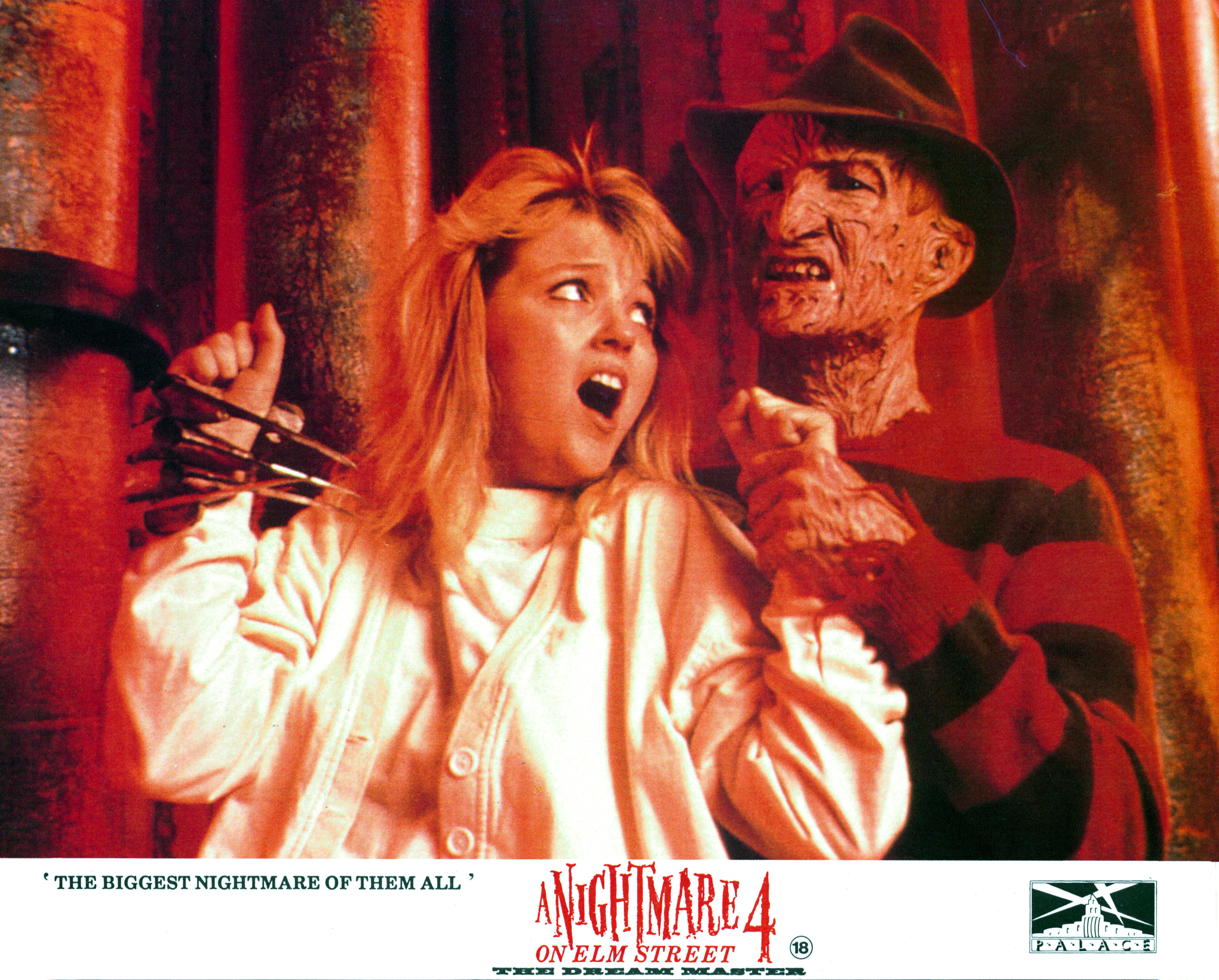 Tuesday Knight And Robert Englund In 'A Nightmare On Elm Street 4: The Dream Master'