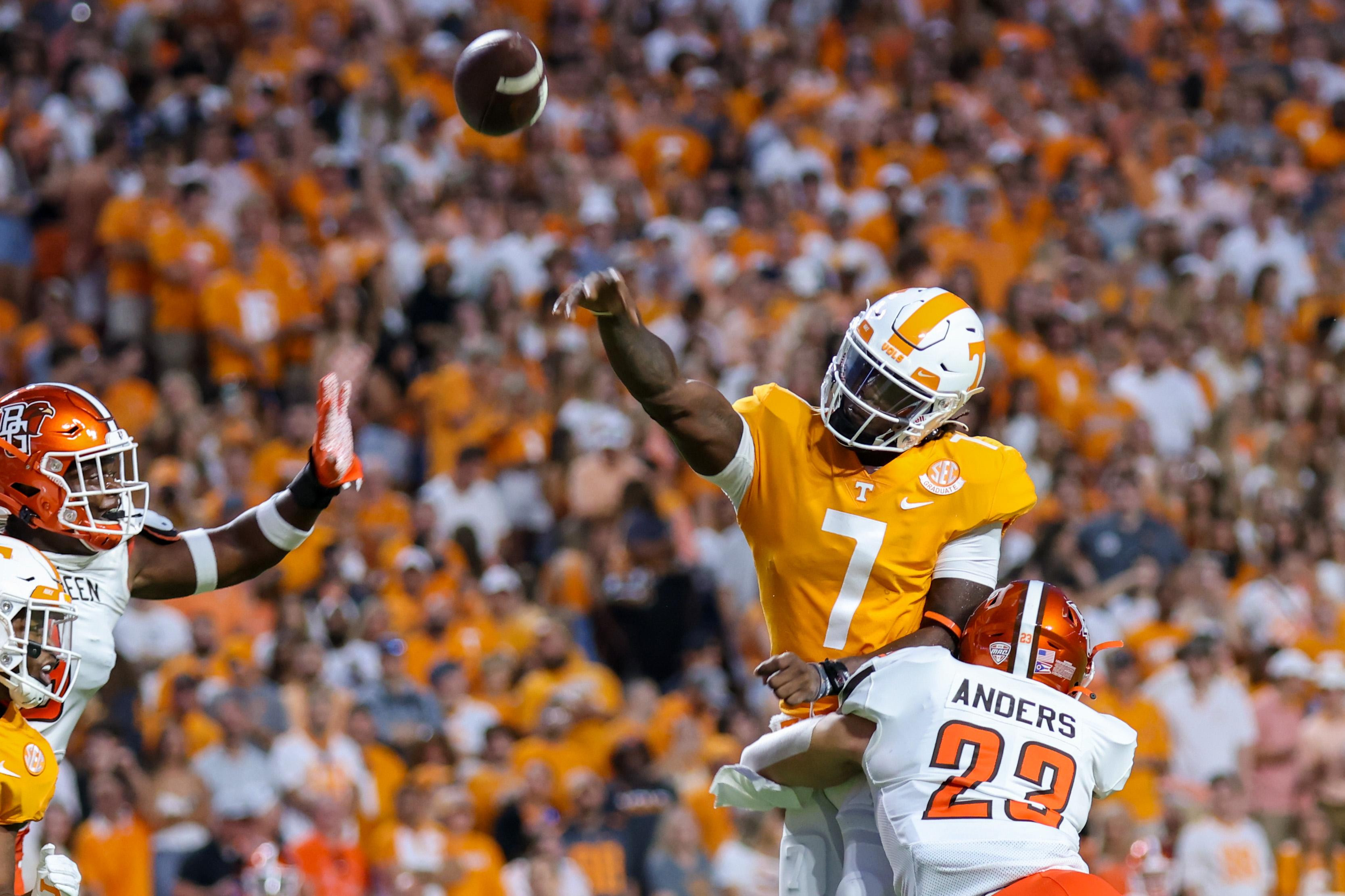 NCAA Football: Bowling Green at Tennessee