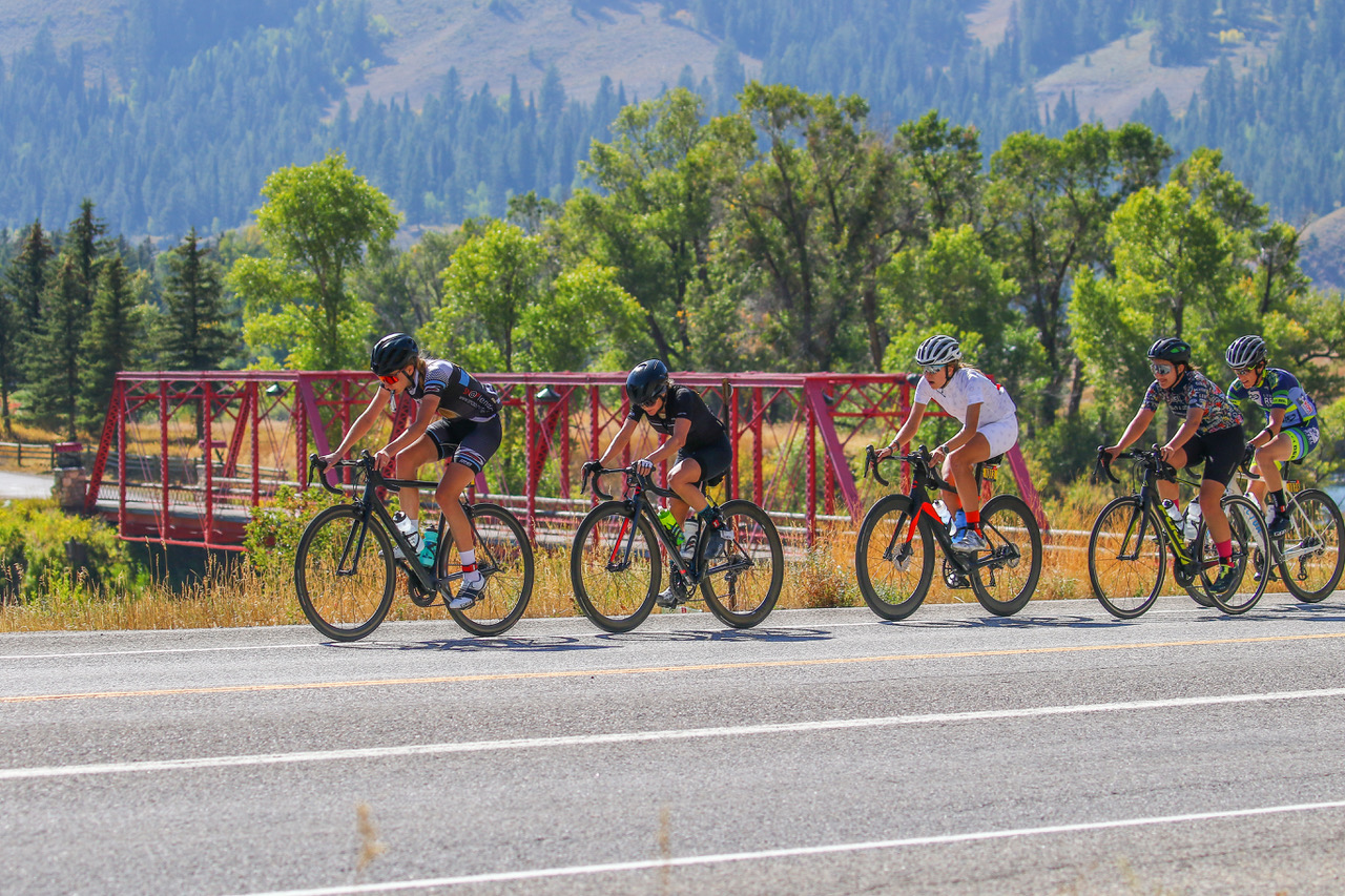 Racers participate in LoToJa, which begins in Logan, Utah, and ends 203 miles later in Jackson Hole, Wyoming.