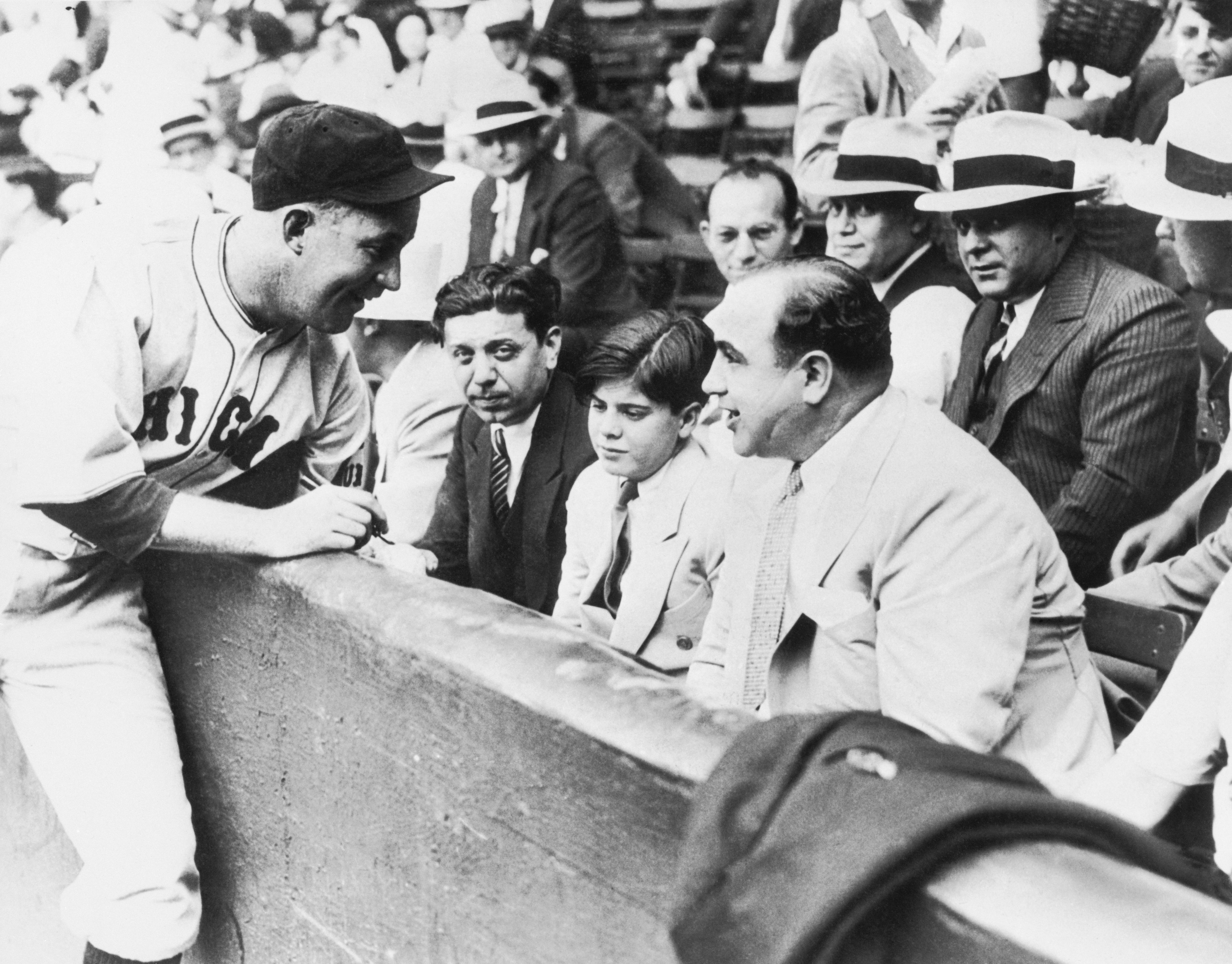 Al Capone at Charity Ballgame