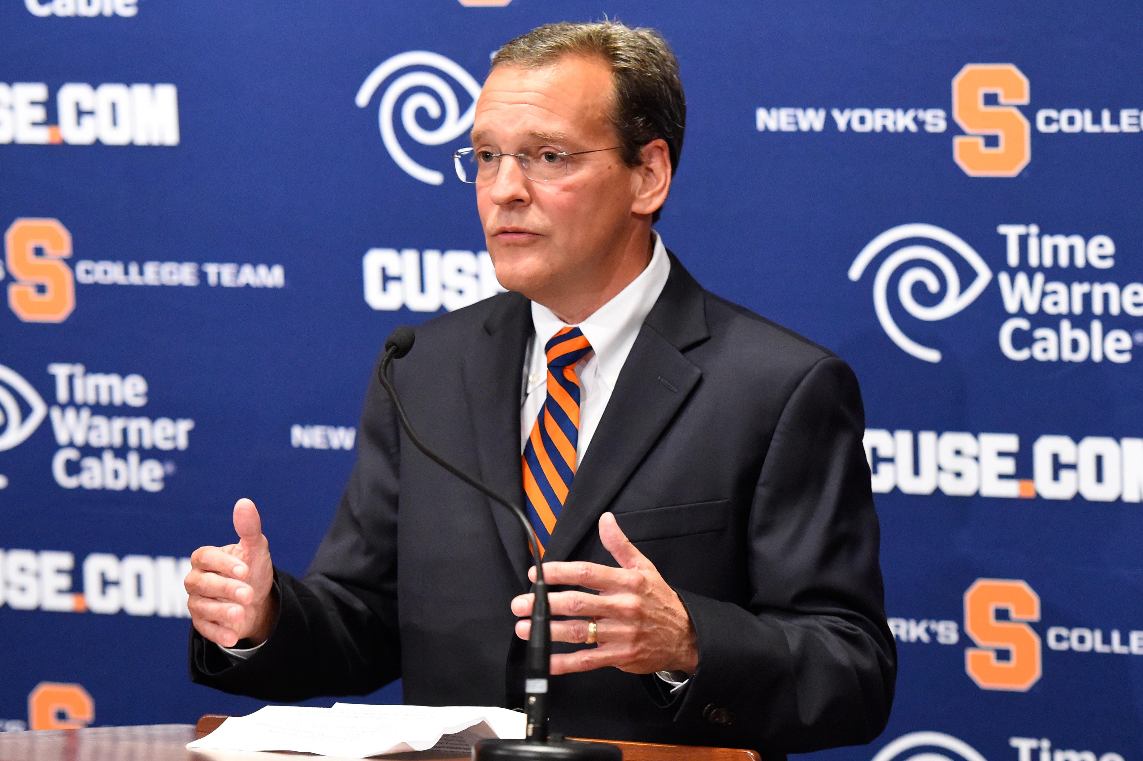 Syracuse Introduce John Wildhack As Director Of Athletics