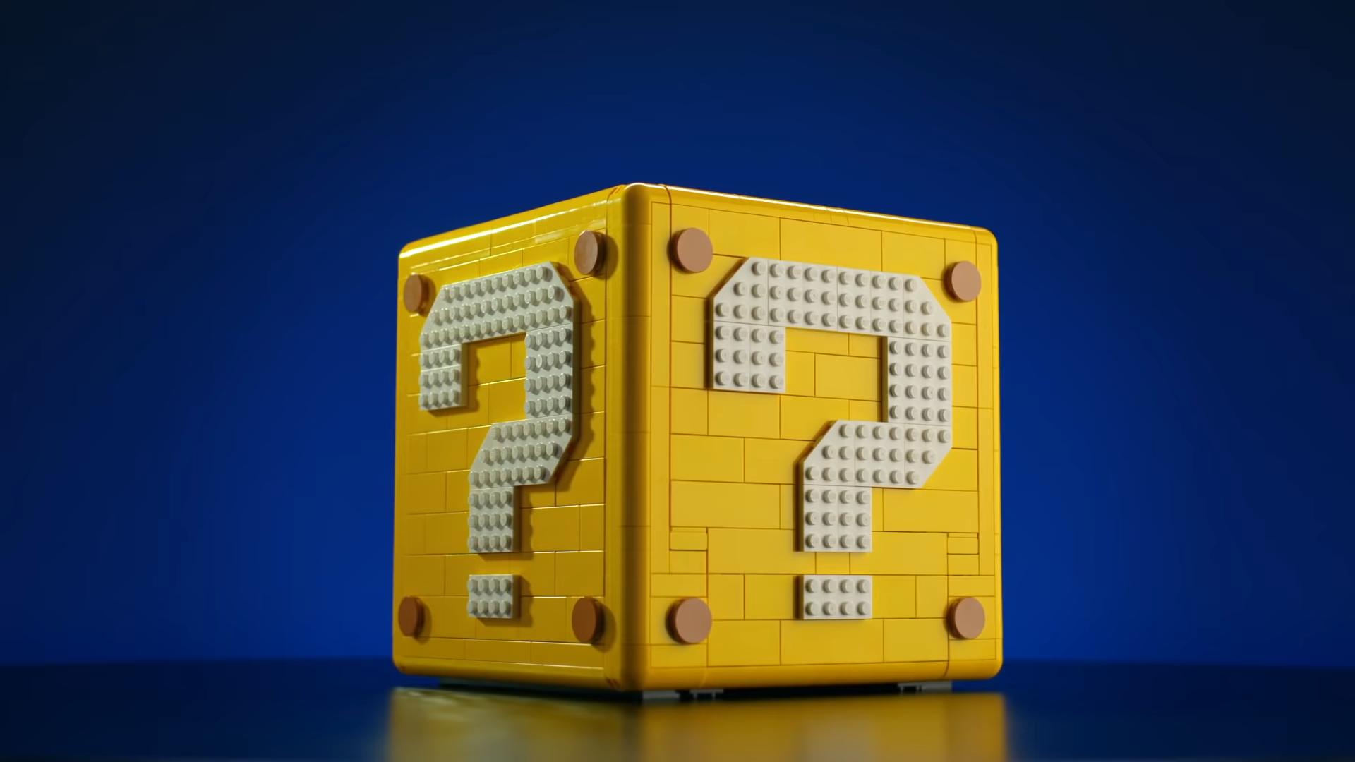 The Lego Mario question mark block