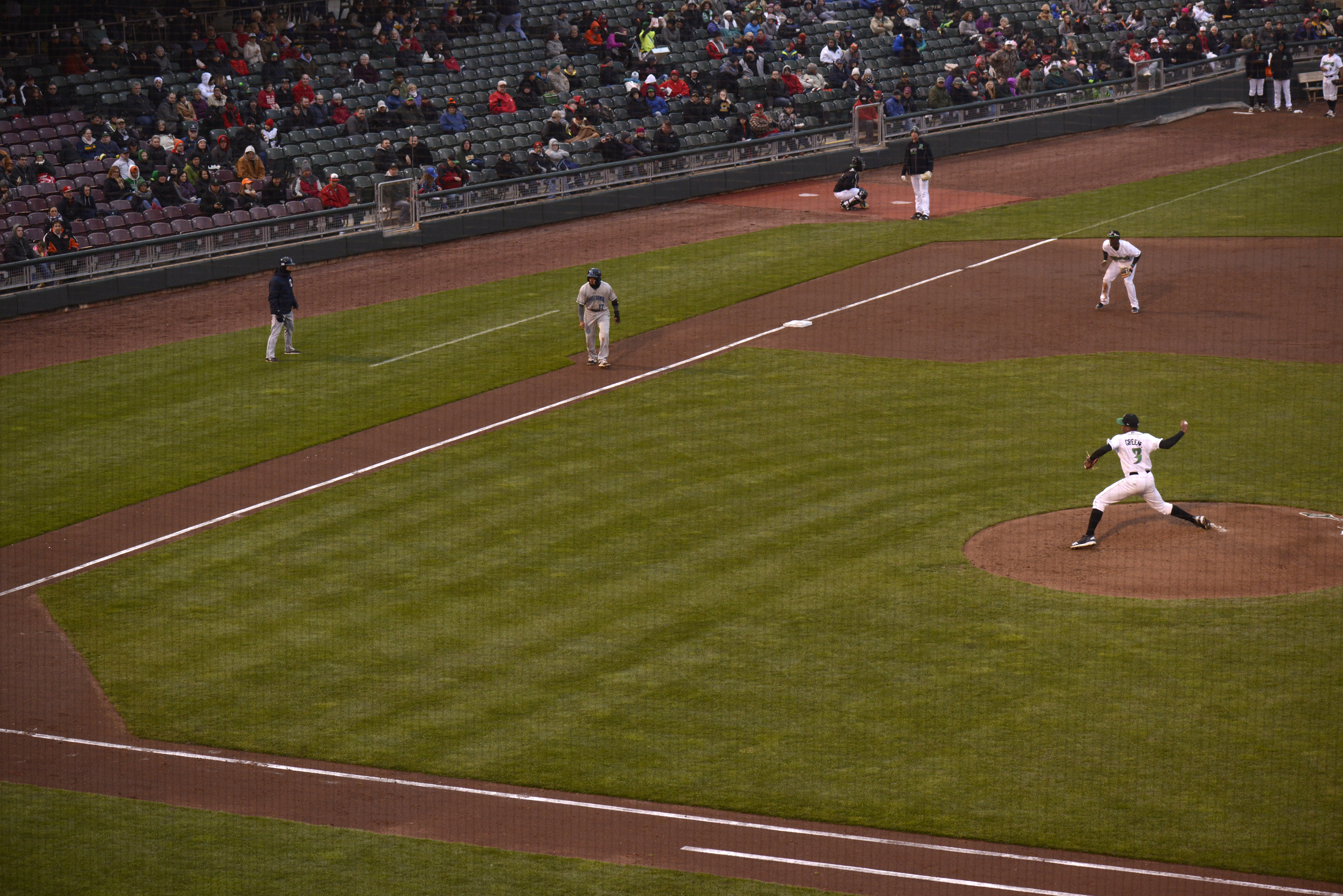 Hunter Greene Pitches for the Dayton Dragons