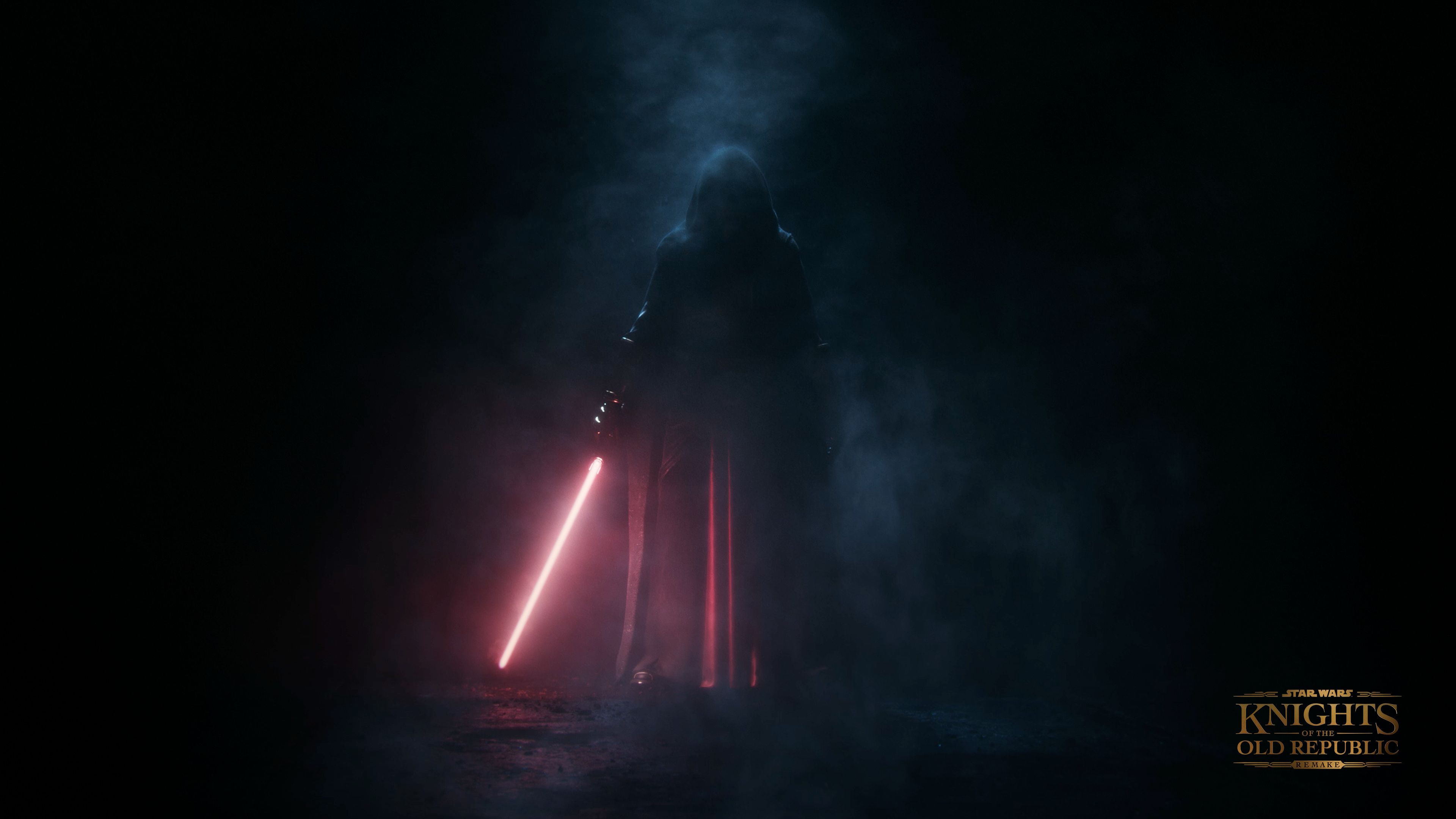 Darth Revan in shadow, artwork from the Star Wars: Knights of the Old Republic remake