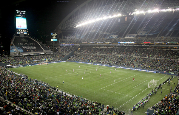 Attendance for Sounders' games at Qwest Field is up more than 18 percent over last year's pace, leading a league-wide attendance bump of 13.6 percent over last year.  (Photo by Otto Greule Jr/Getty Images)