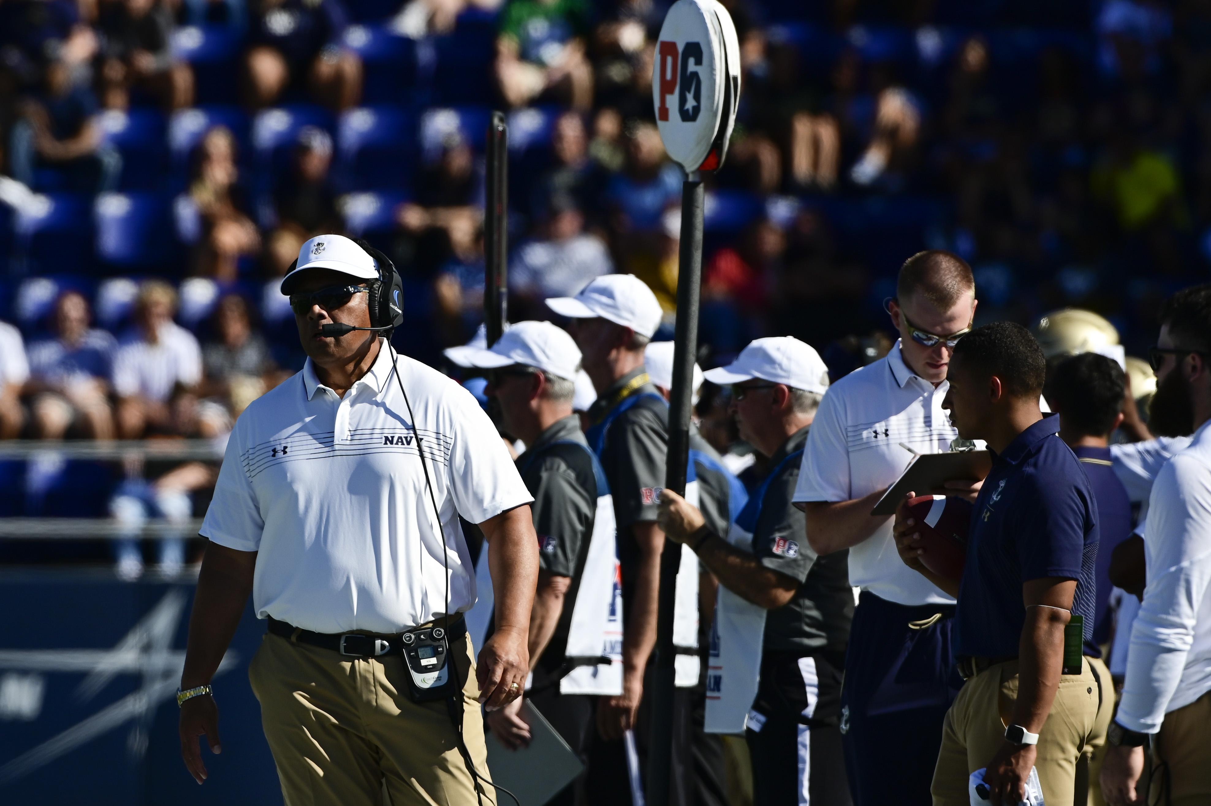 NCAA Football: Marshall at Navy