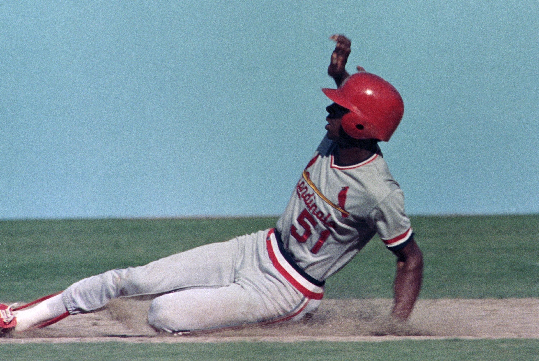 Cardinals Willie McGee at MLB Playoffs