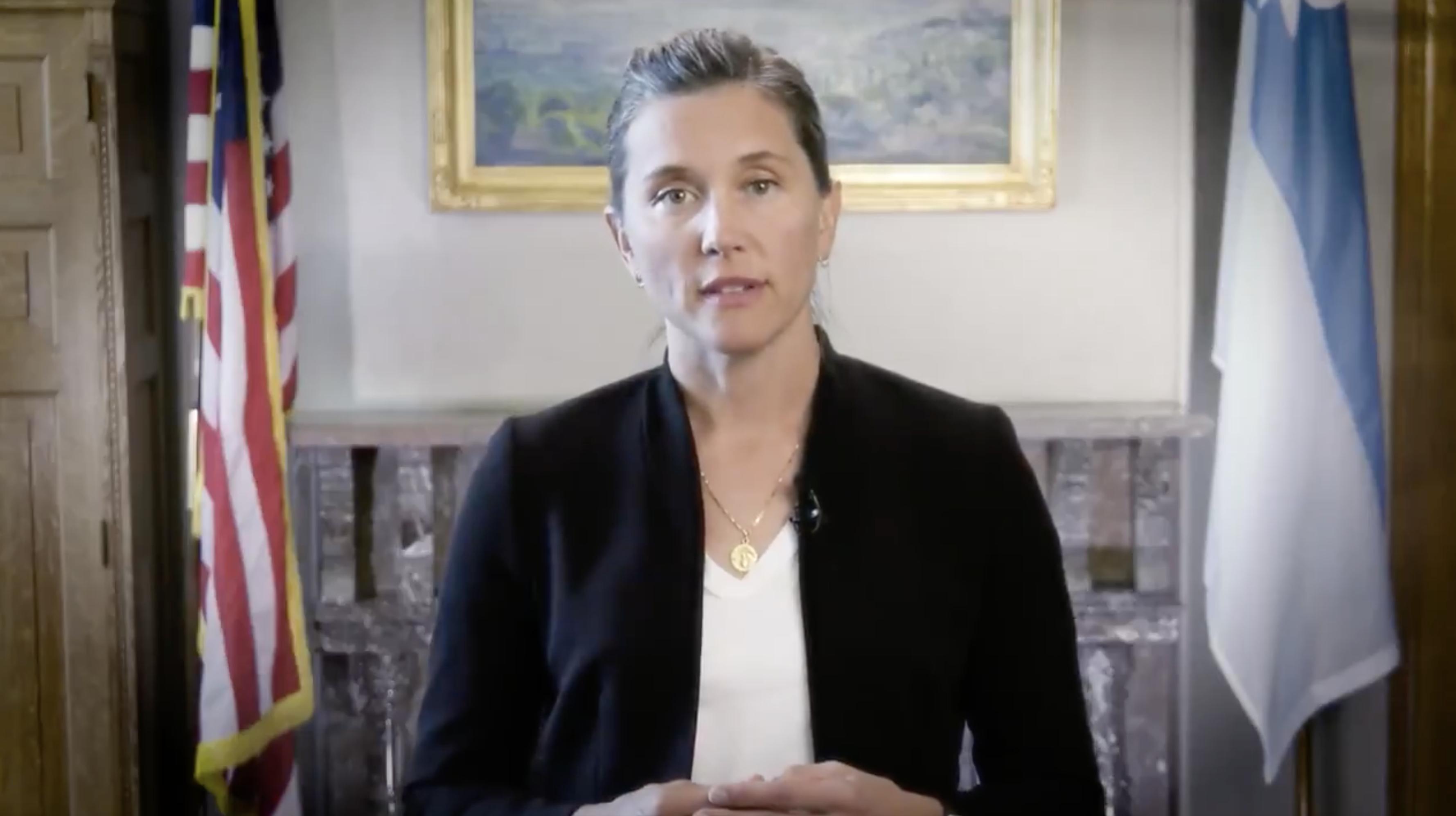 Salt Lake City Mayor Erin Mendenhall speaks in a video posted on Twitter on Thursday, Sept. 9, 2021.