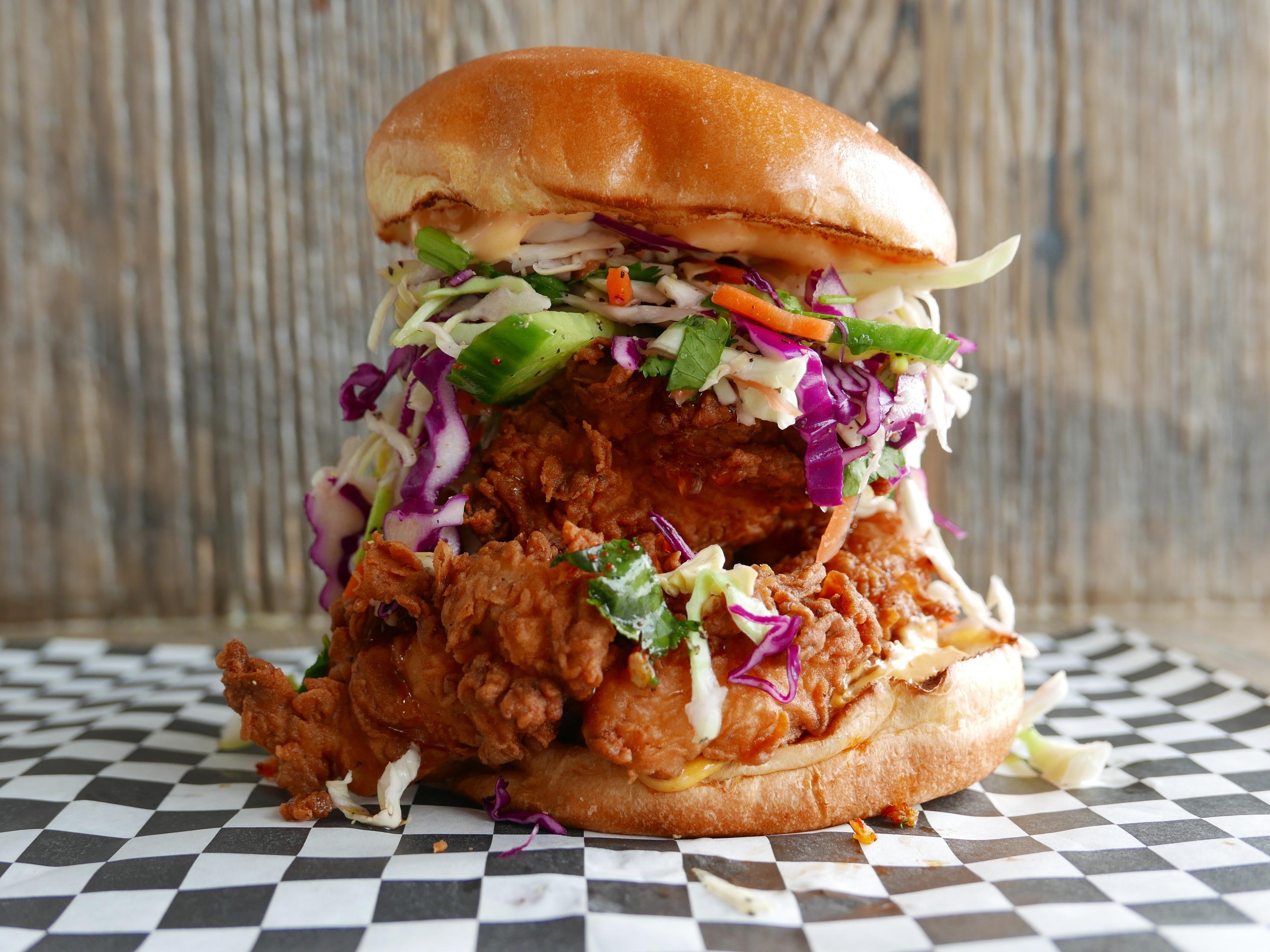 Fried chicken sandwich from Rockbird in Glendale.