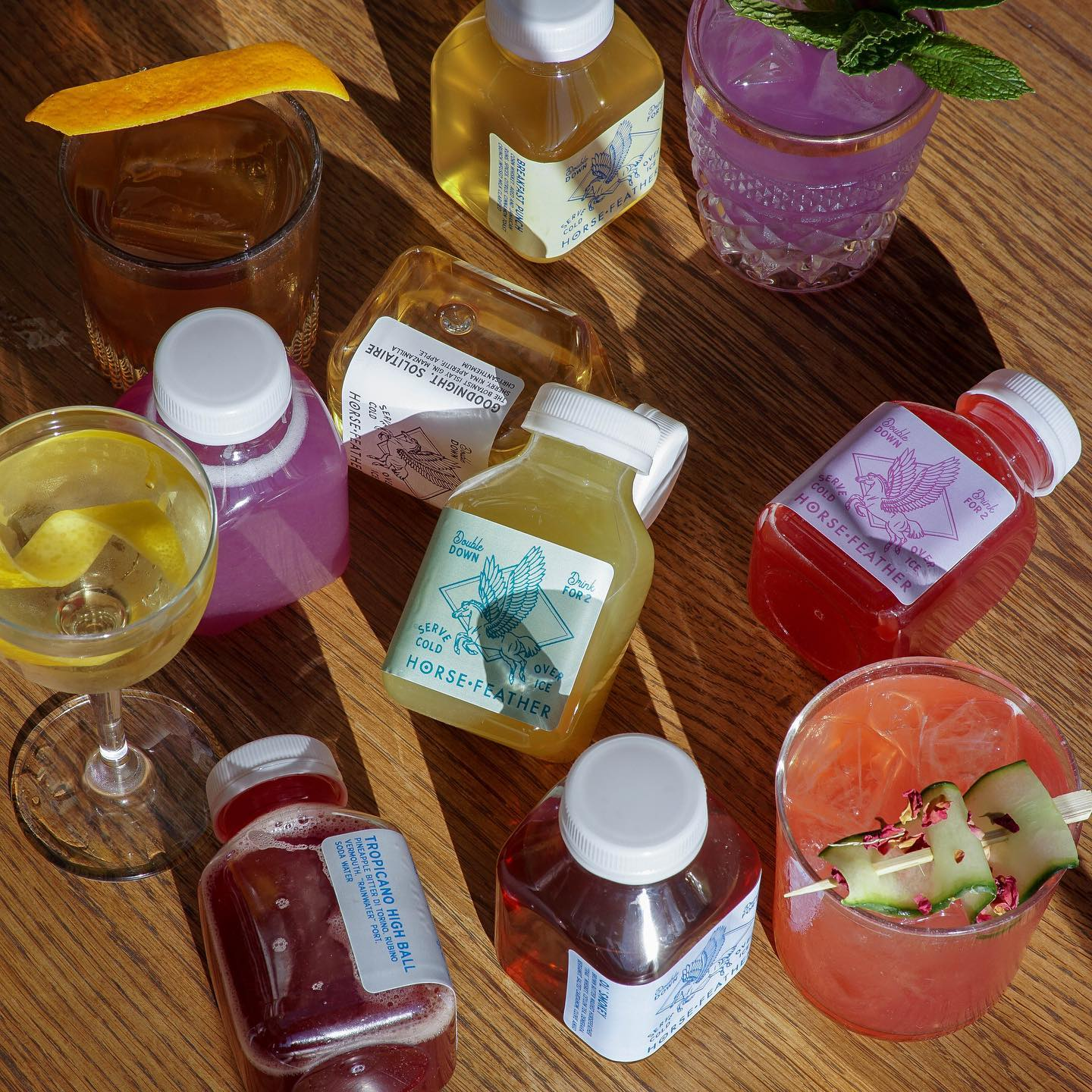 Bottled cocktails from Horsefeather