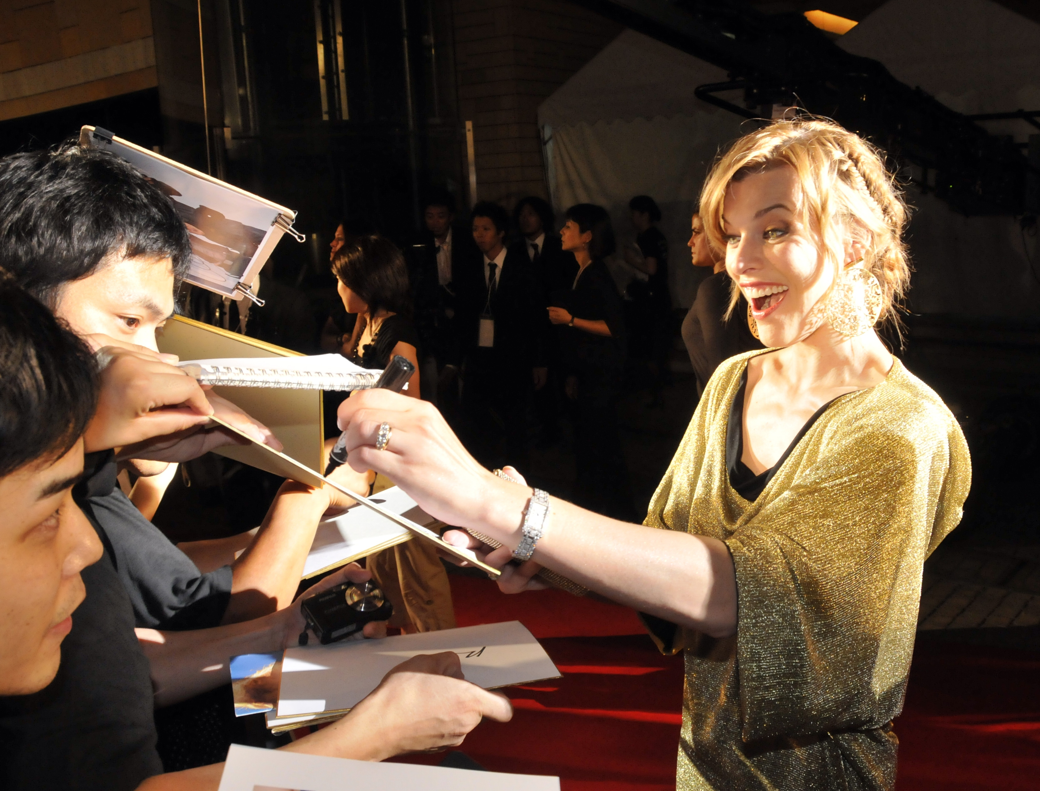 Ukrainian born-US actress Milla Jovovich