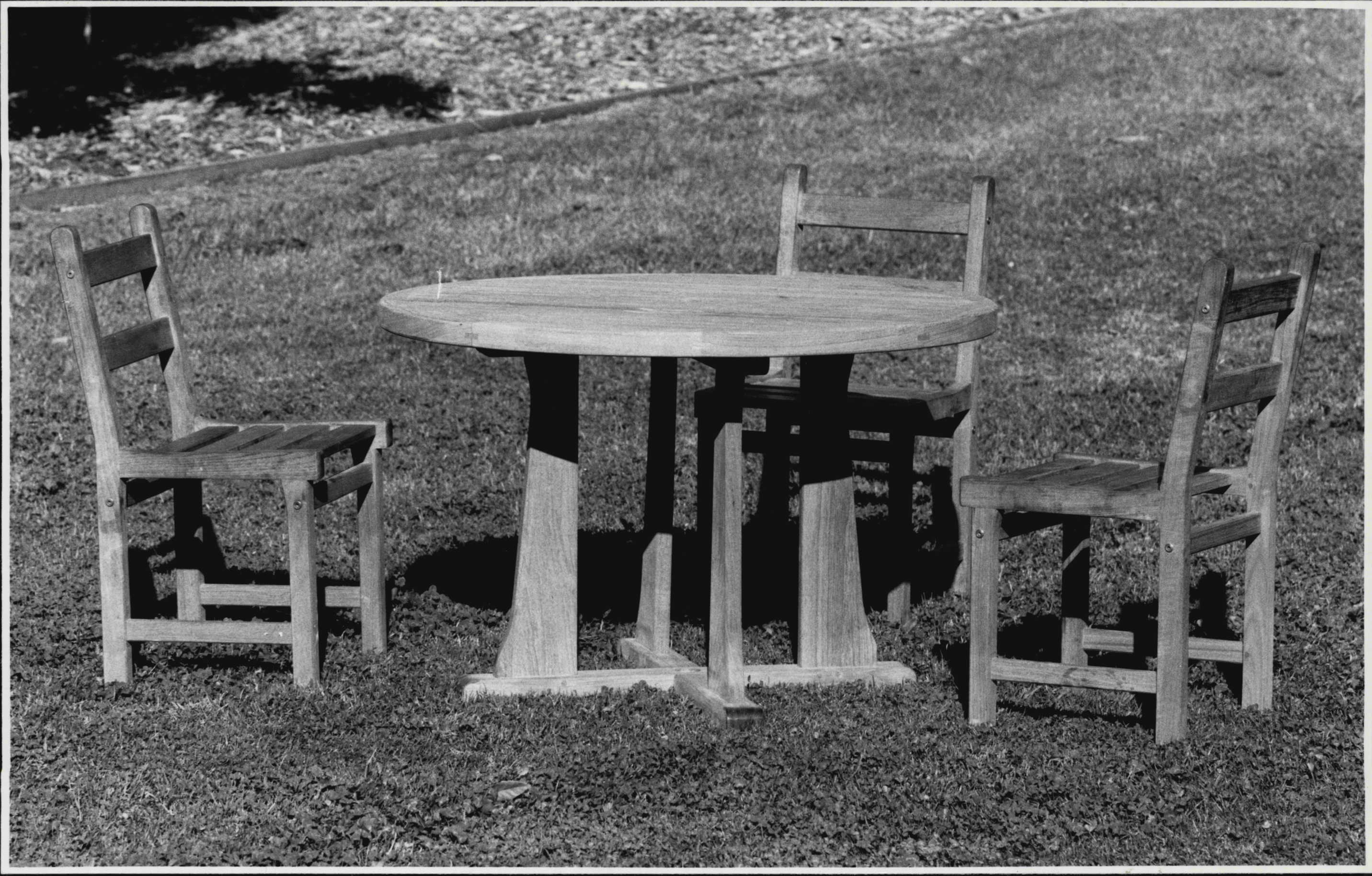 Cotswold Garden Furniture, 61 Boundary st Roseville.Items of garden furniture.Regent table 4 diameter $998, Kent chair $239 bring inside on verandah *****.