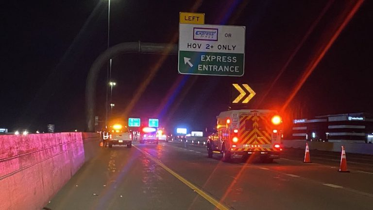 Emergency crews respond to a fatal crash on I-15 in Marray on July 19, 2021.