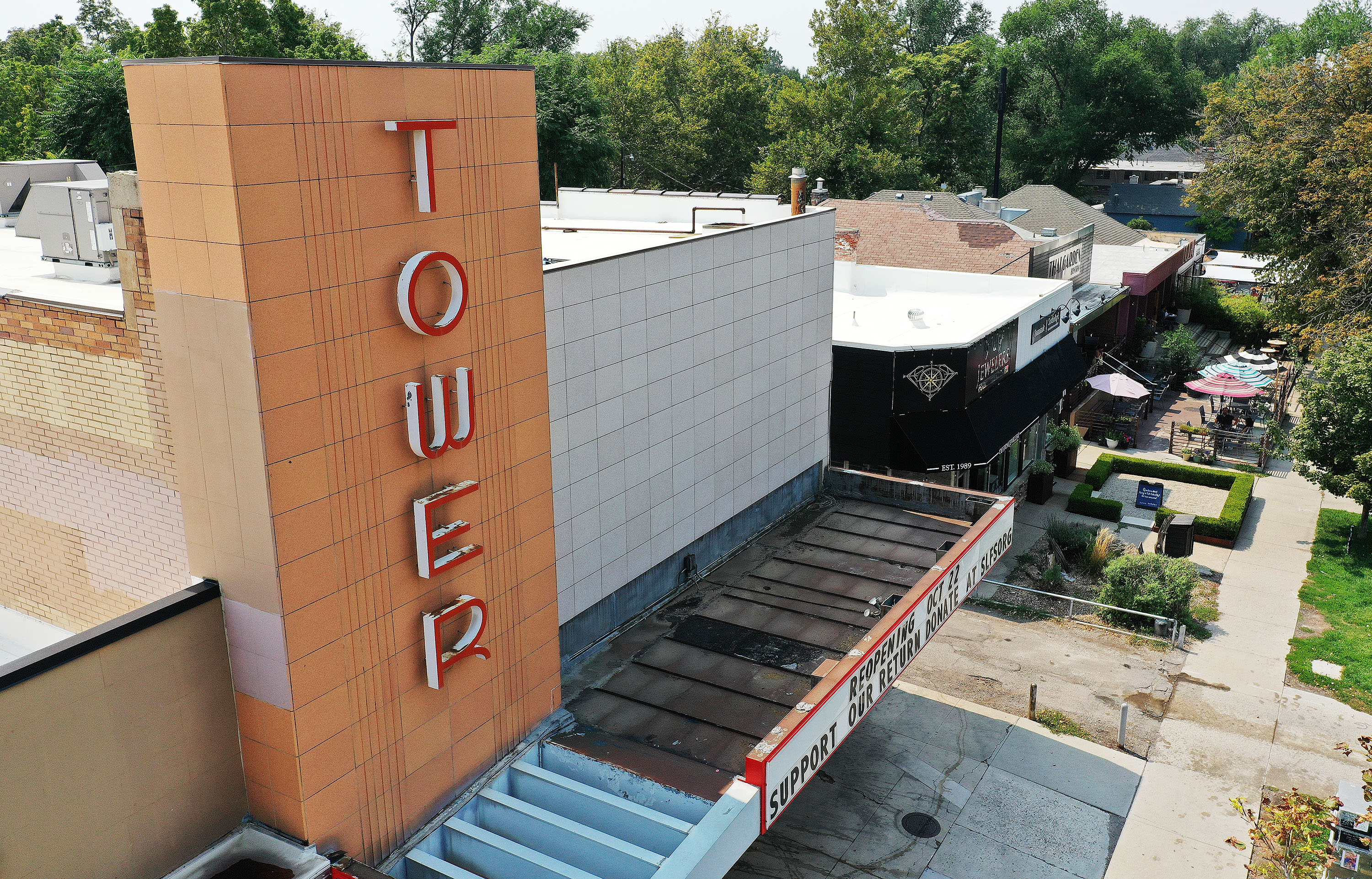 The Tower Theatre in Salt Lake City is pictured on Friday, Aug. 27, 2021. The Salt Lake Film Society oversees one of the biggest art house cinema operations in the country but last spring shut its doors due to COVID-19. The society has developed and launched its own custom streaming platform.