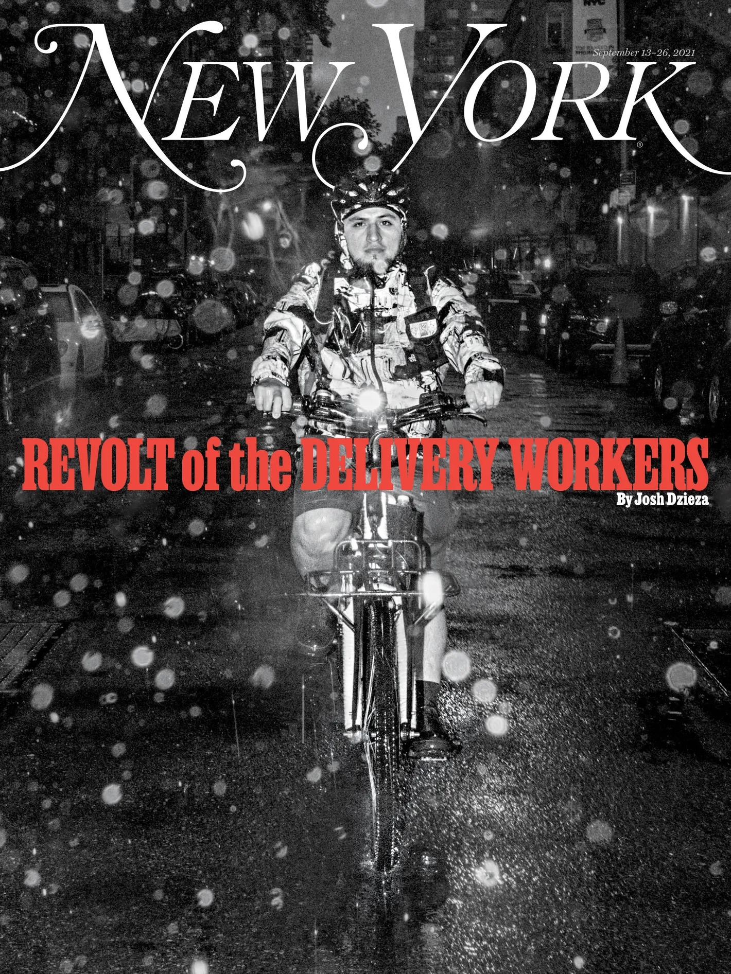 Cover of New York Magazine: Revolt of the Delivery Workers