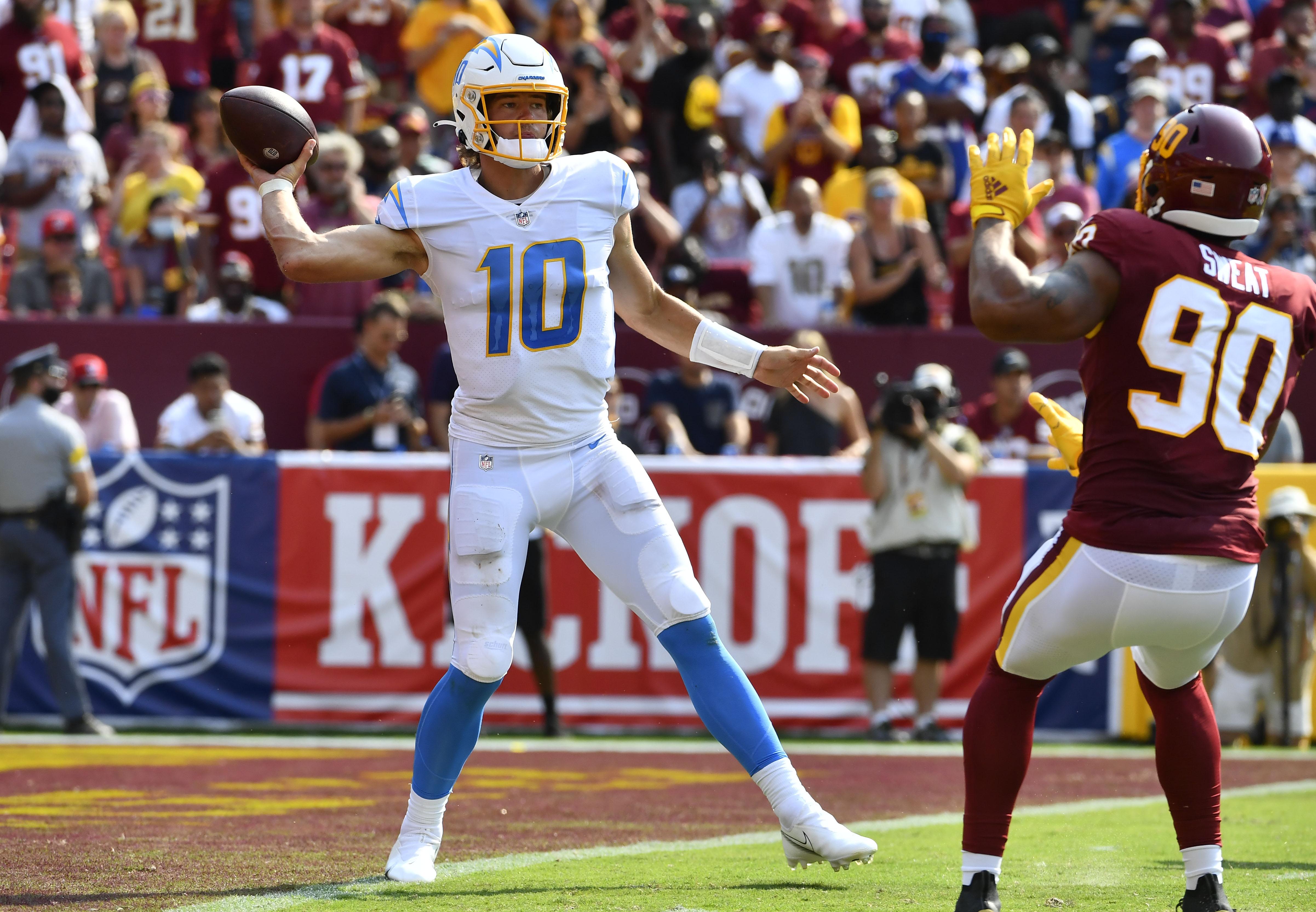 NFL: Los Angeles Chargers at Washington Football Team