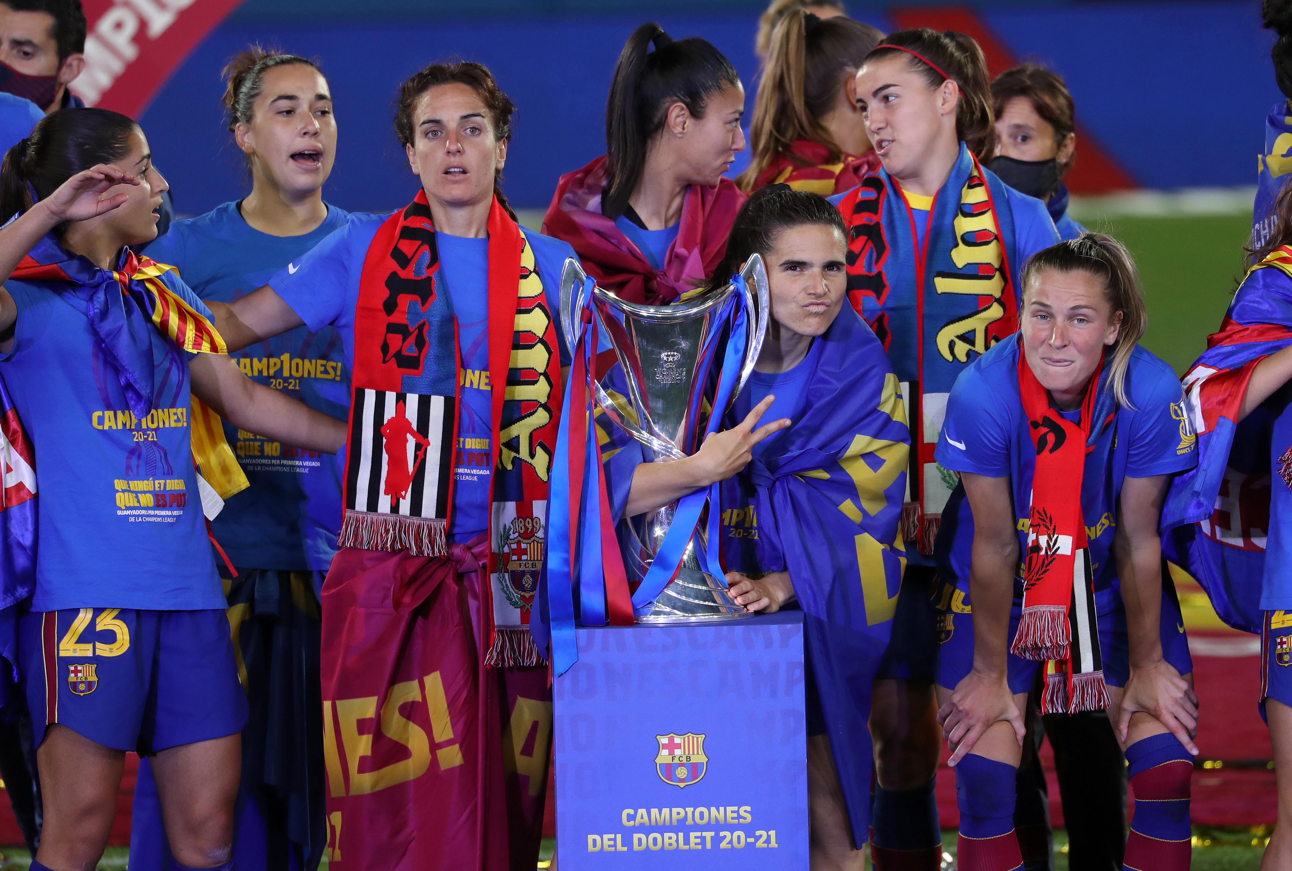 FC Barcelona Womens Champions League Celebration