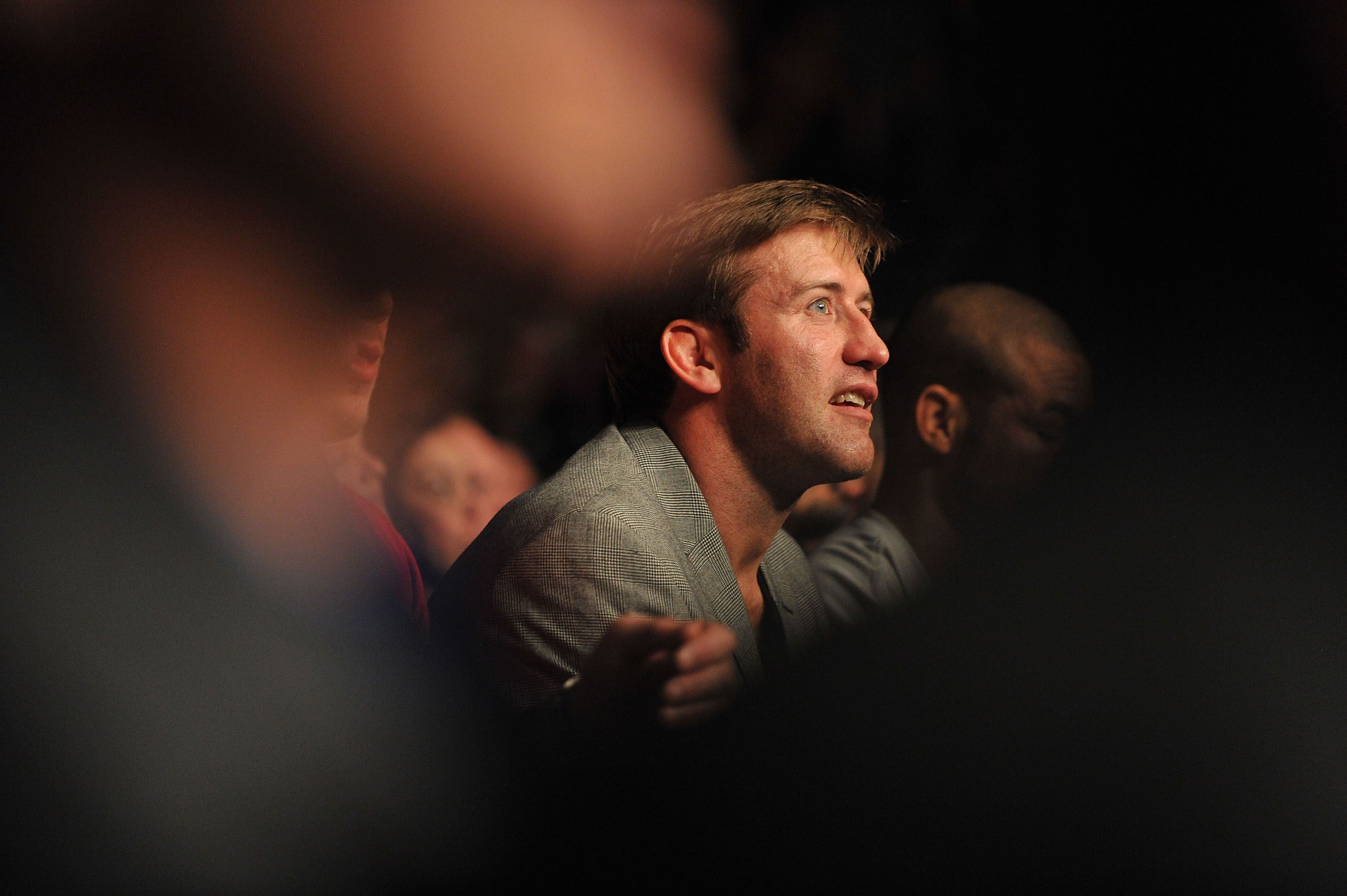 Stephan Bonnar looks on from the crowd during UFC 167.