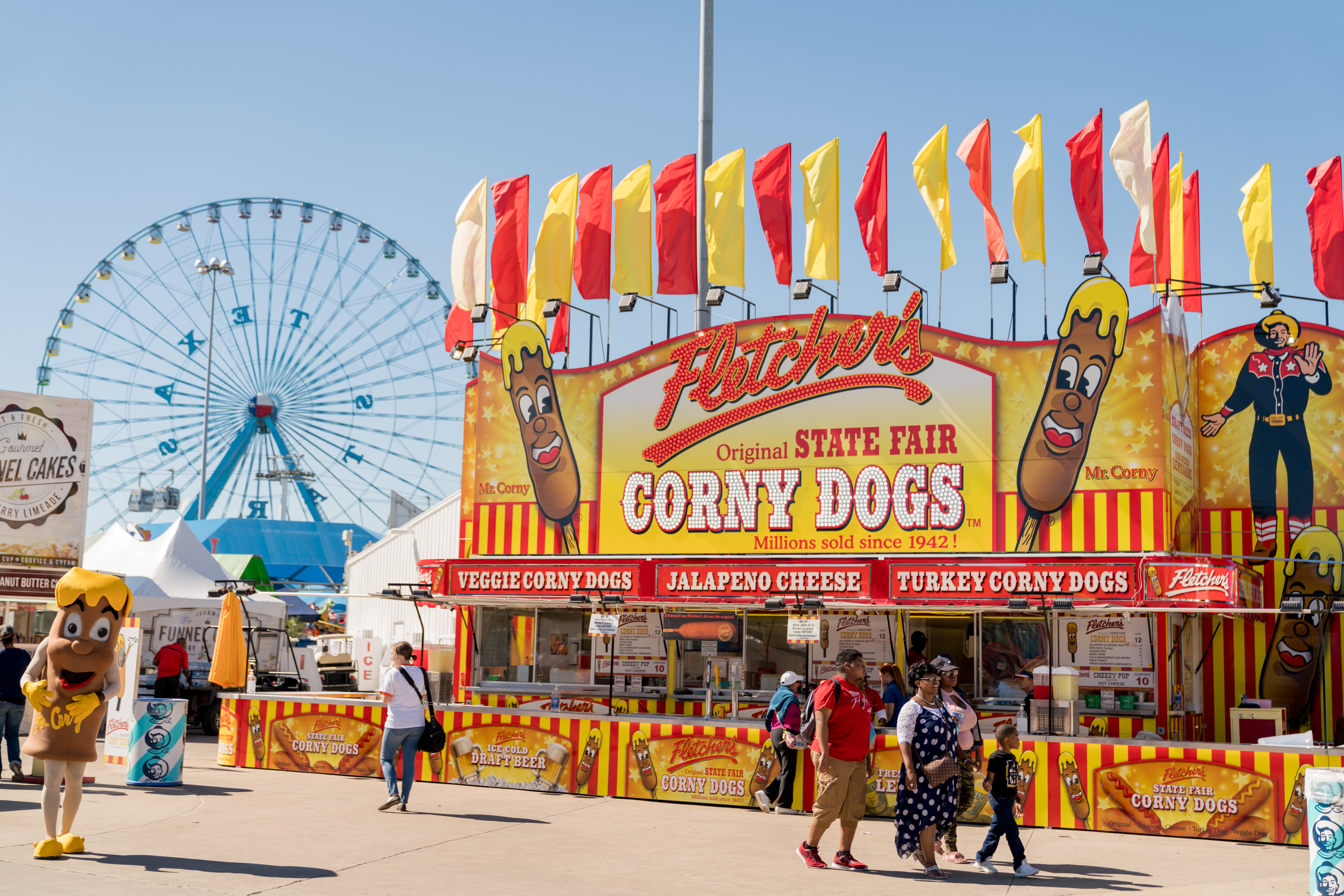 The exterior of Fletcher's Corny Dogs at the State Fair of Texas