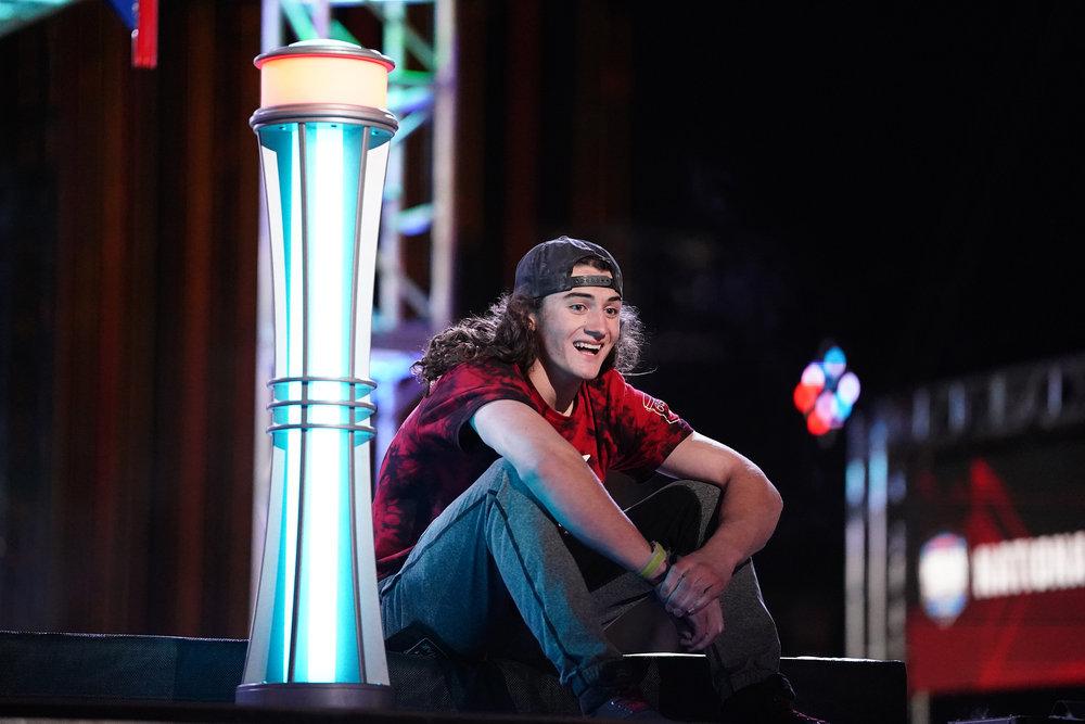 "15-year-old Kaden Lebsack on ""American Ninja Warrior."""