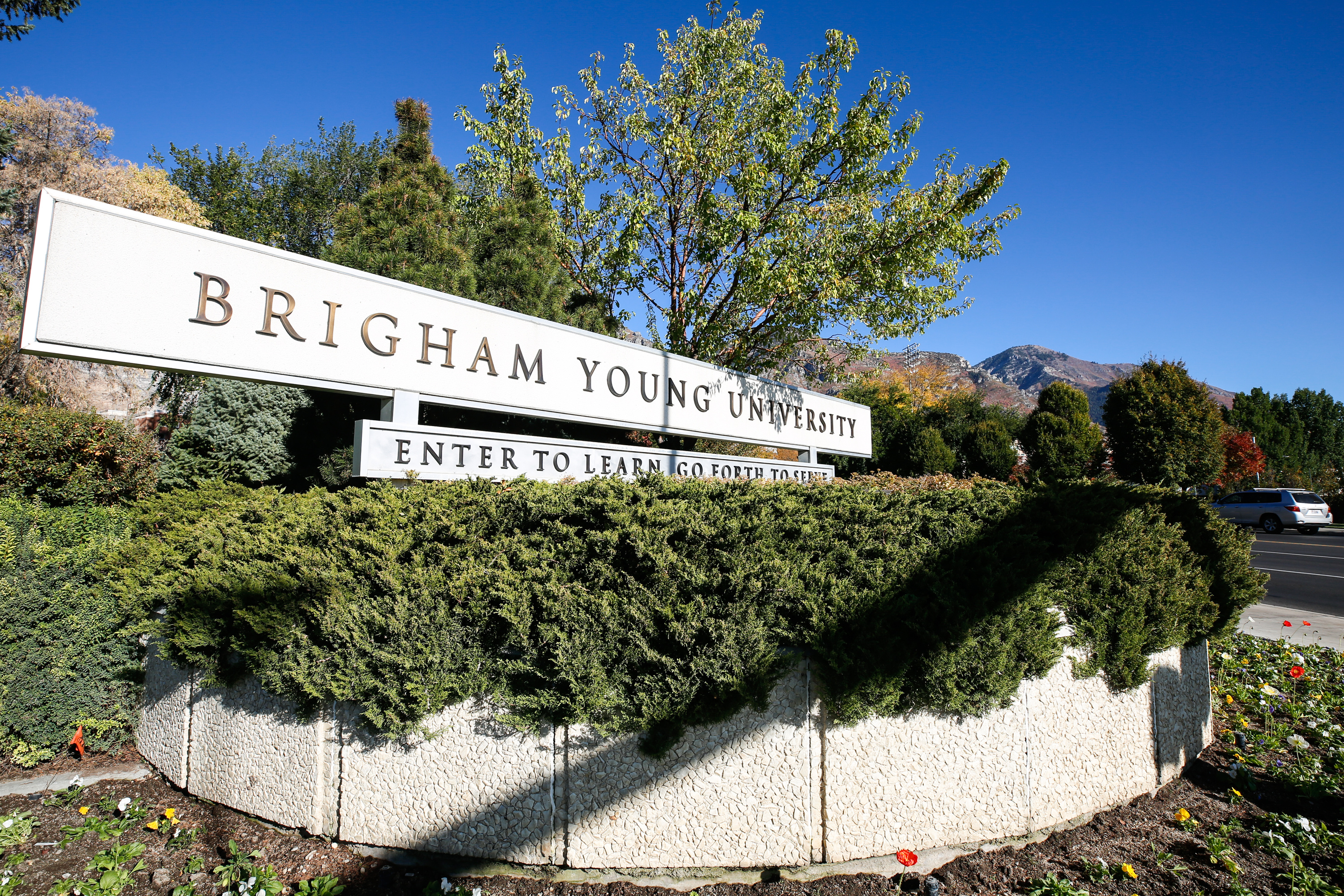 The Brigham Young University campus in Provo is pictured in 2020.