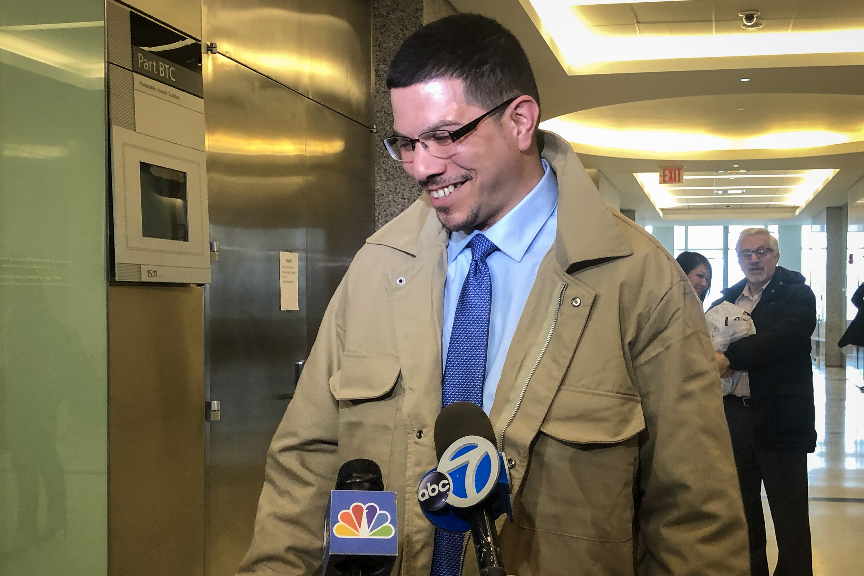Bladimil Arroyo on the day in February 2019 that a Brooklyn judge overturned his conviction for a 2001 murder.