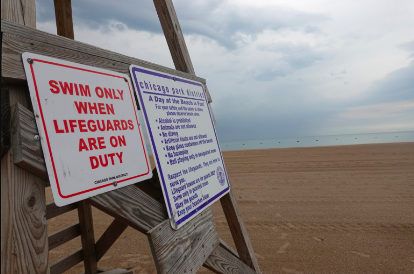 The lifeguard stand at North Avenue Beach.
