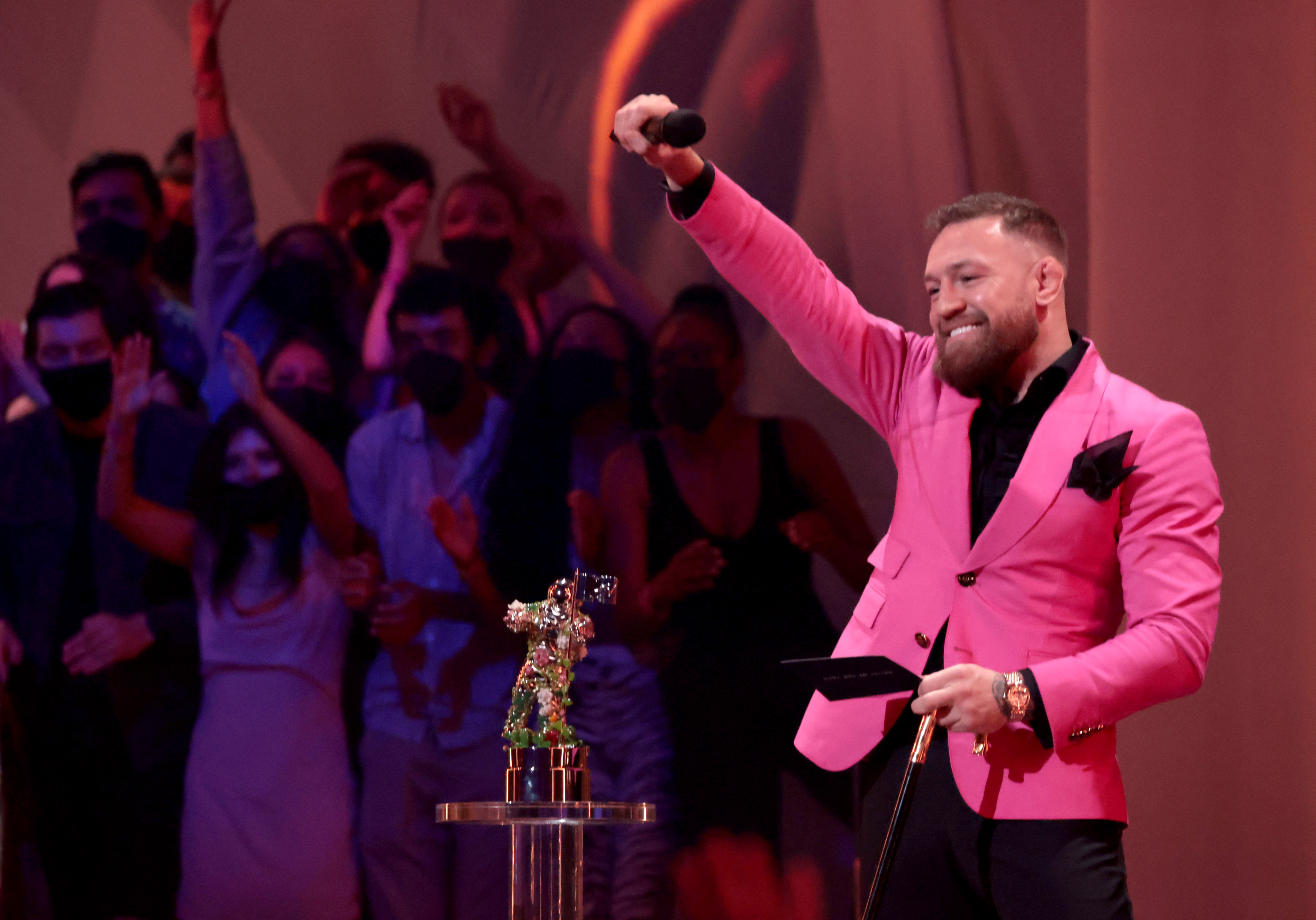 Conor McGregor was an award presenter at the 2021 MTV Video Music Awards this past weekend.