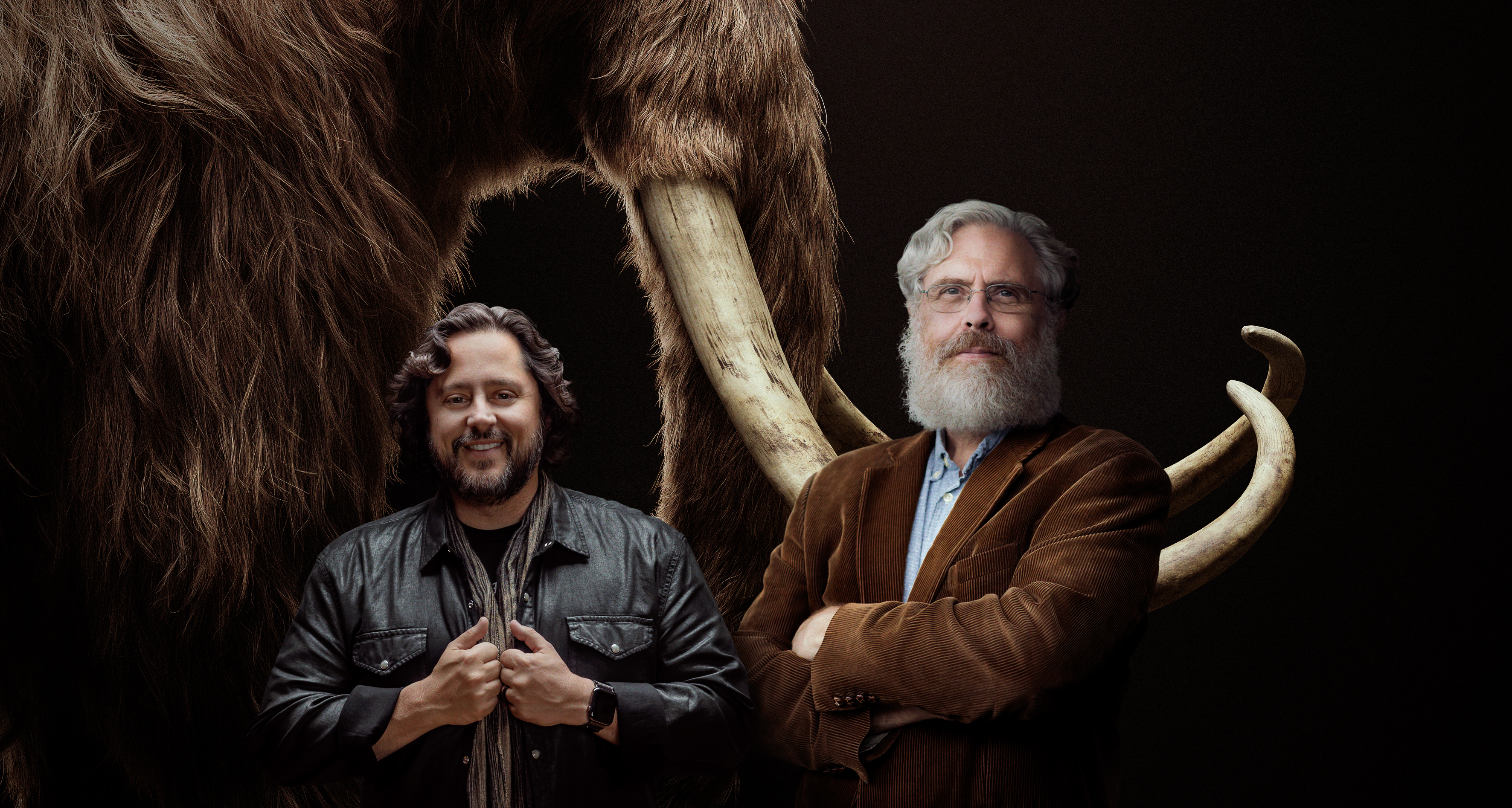 Co-founders of Colossal, Ben Lamm (L), CEO and Dr. George Church (R), PhD