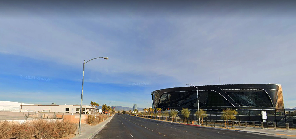 The view from a future supper club planned by Terrible Herbst very close to Allegiant Stadium.