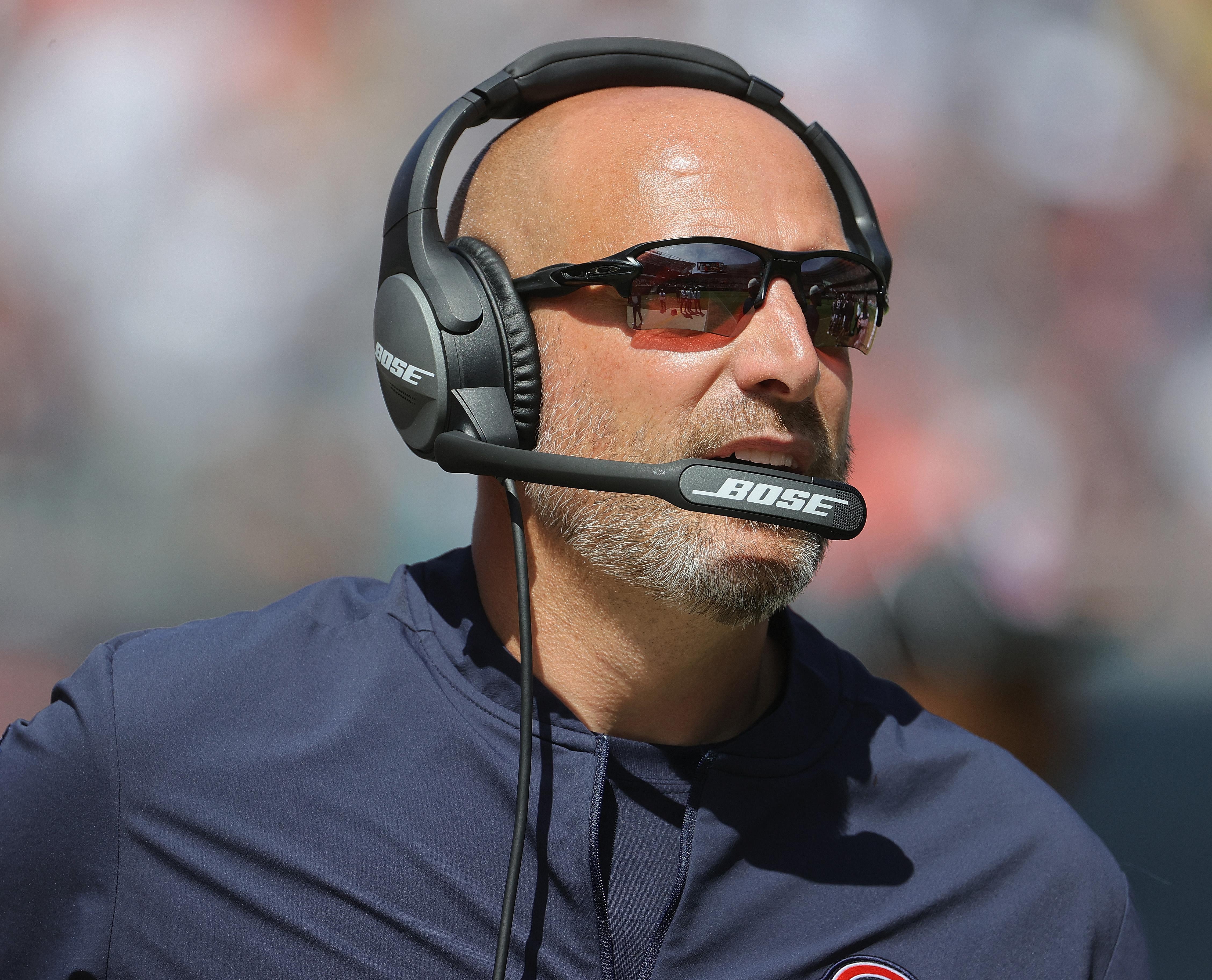Bears coach Matt Nagy: Mr. Positive.