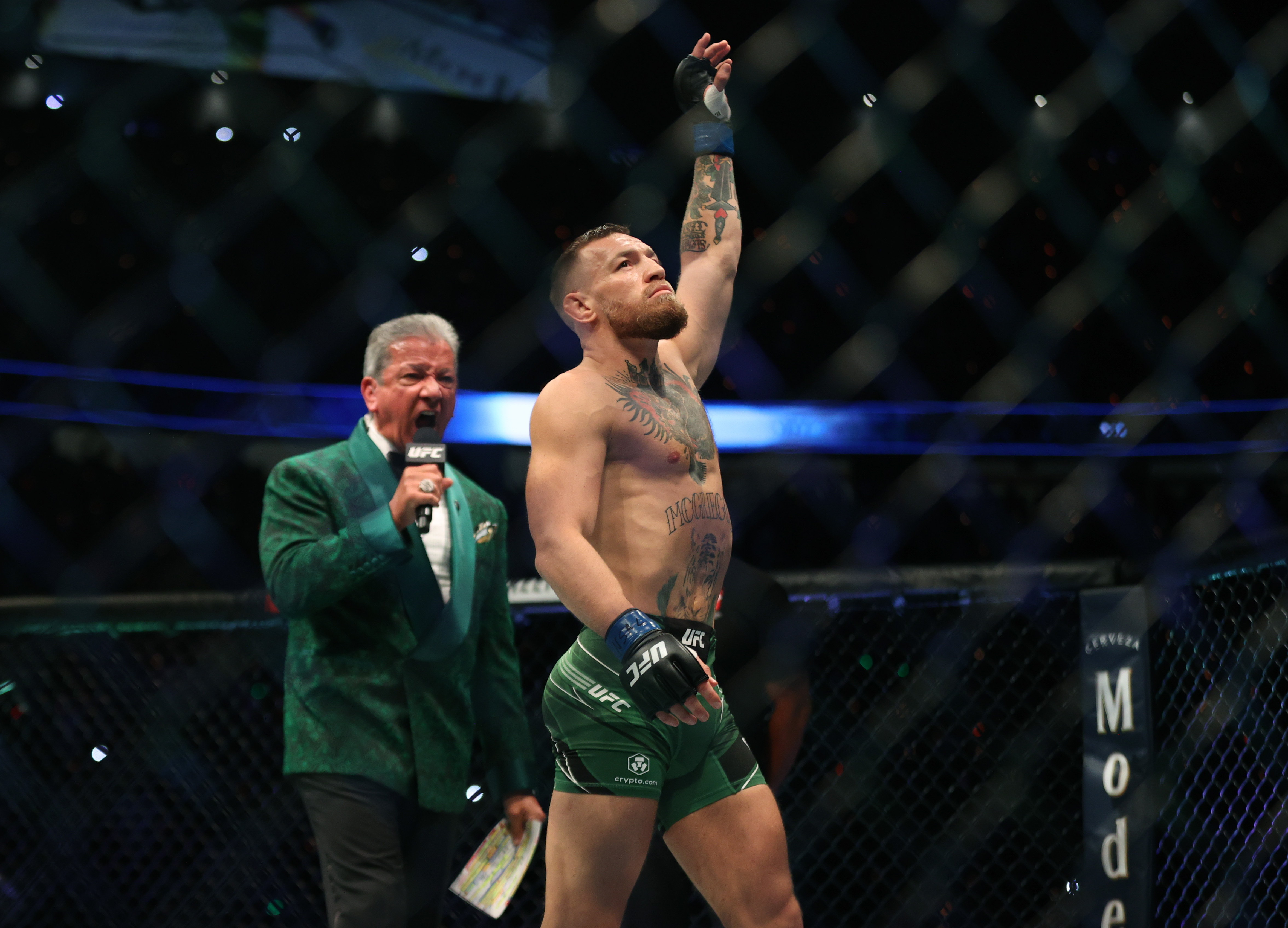 Conor McGregor before his fight with Dustin Poirier at UFC 264.