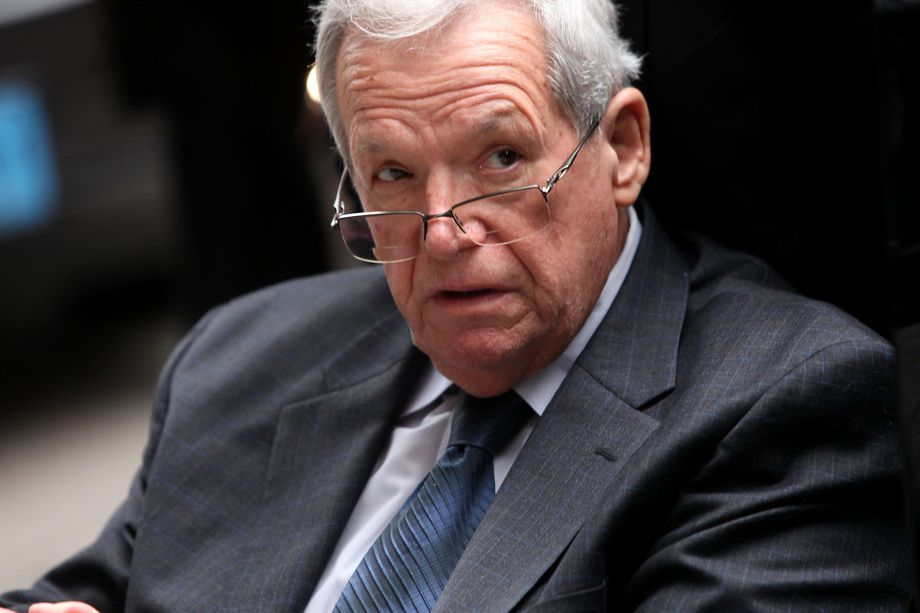 Former House Speaker Dennis Hastert leaves the Dirksen Federal Court House in a wheelchair after his sentencing.