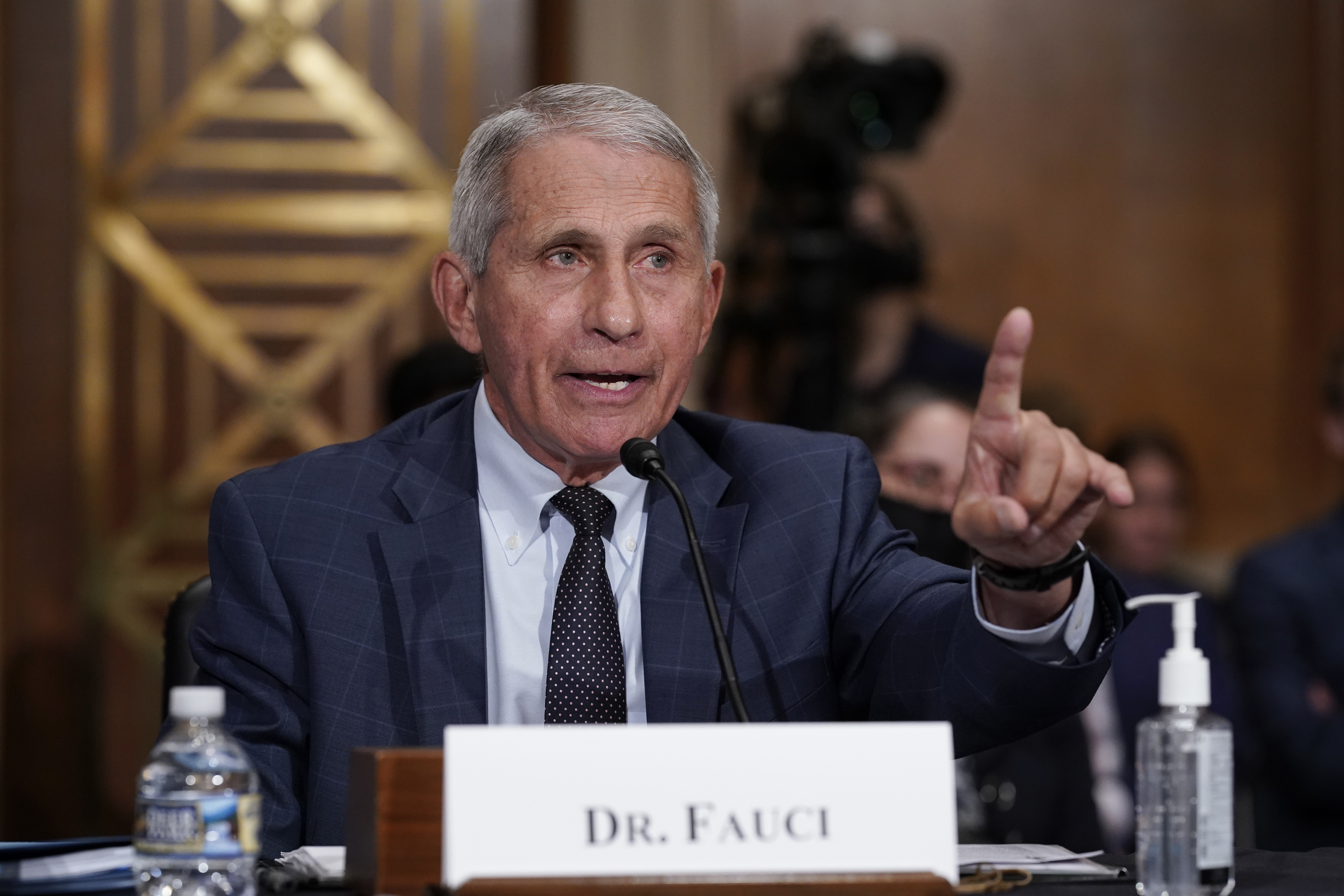 Dr. Anthony Fauci speaks on Capitol Hill in Washington, D.C., about COVID-19.