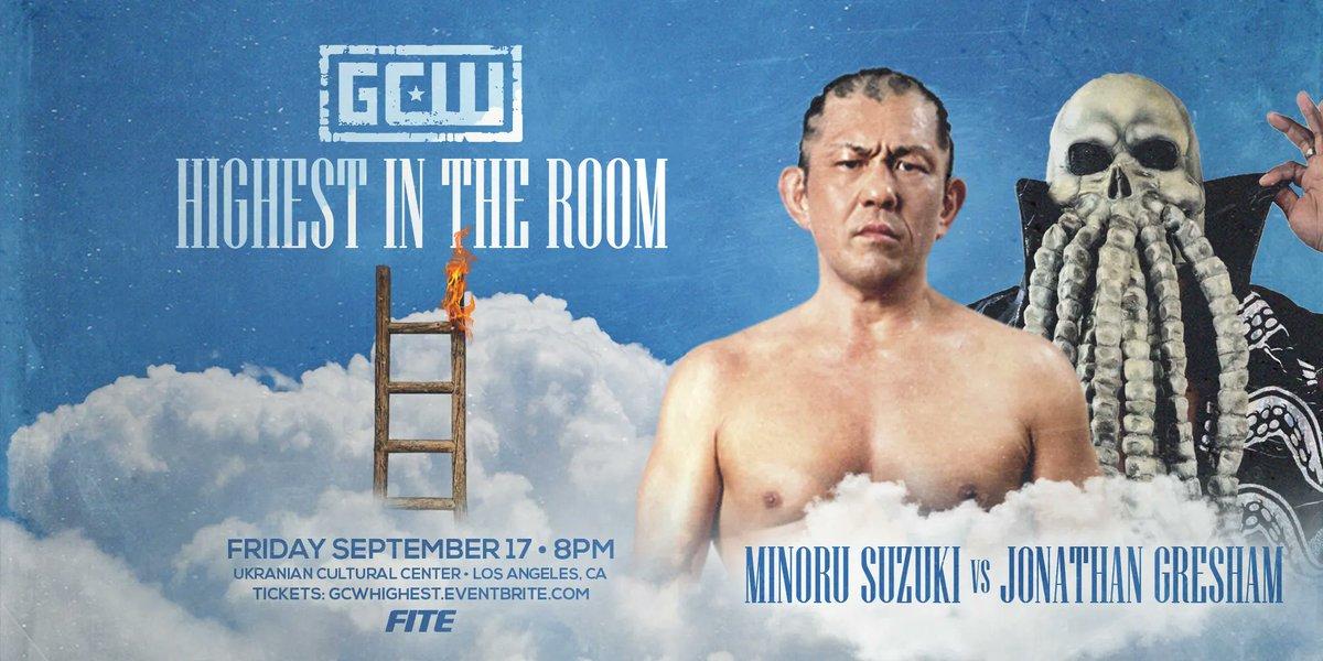 Match graphic for Minoru Suzuki vs. Jonathan Gresham