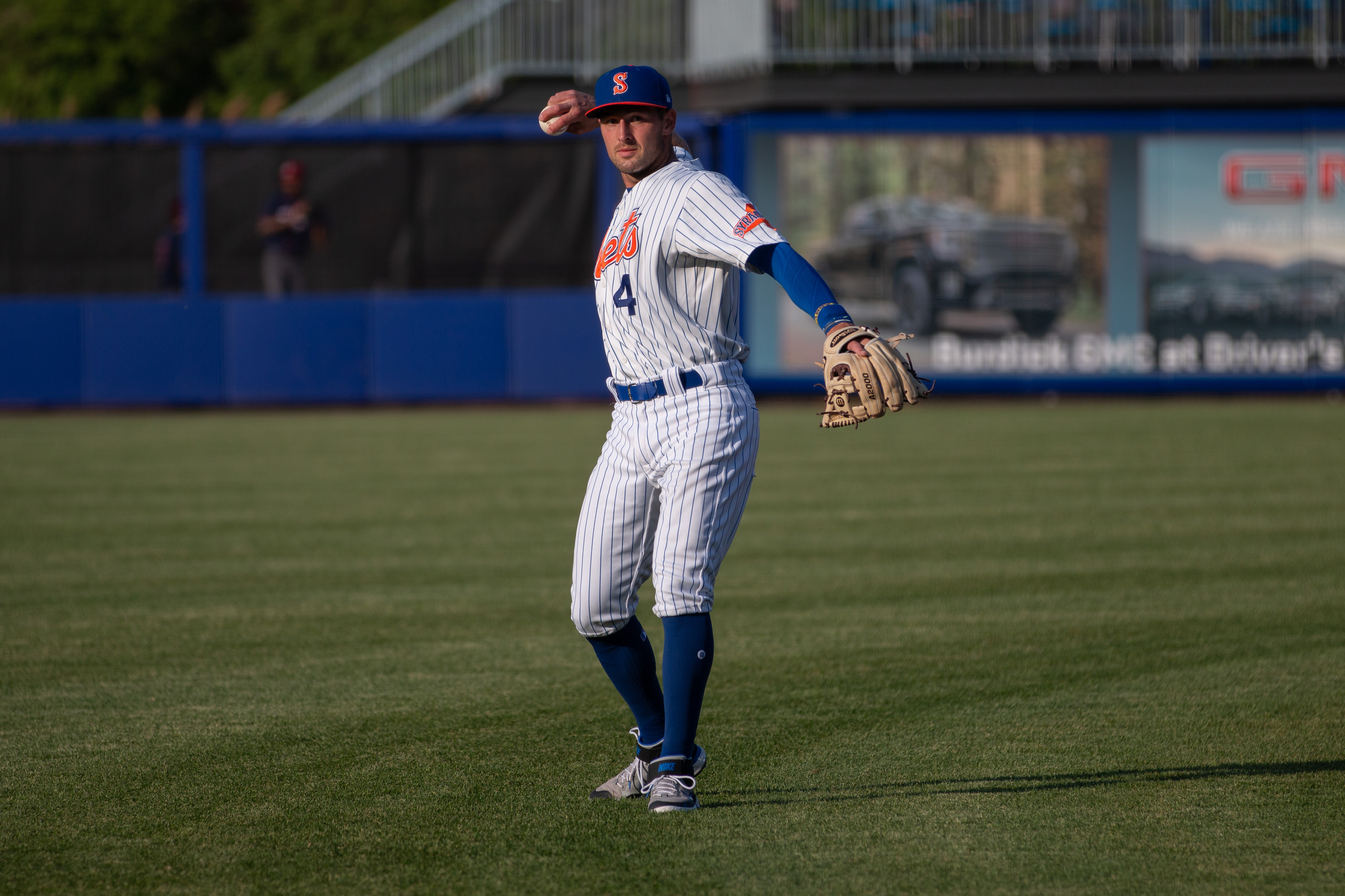 Cody Bohanek before a Syracus Mets game on May 20, 2021.