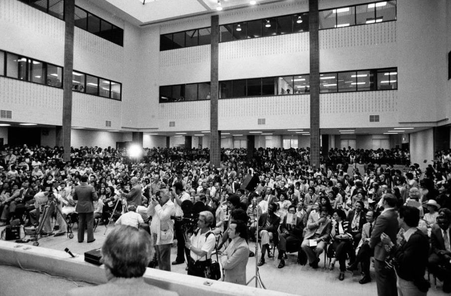 Opening ceremonies of Benito Juarez High School