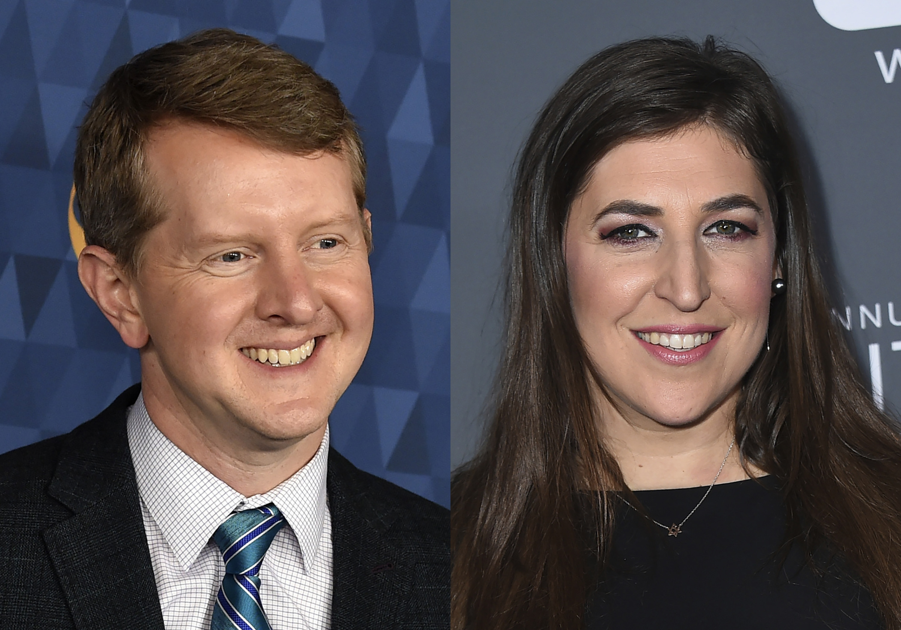 """Ken Jennings (pictured in 2020) and Mayim Bialik (pictured in 2018) will split co-hosting duties on """"Jeopardy!"""" following the departure of Mike Richards."""
