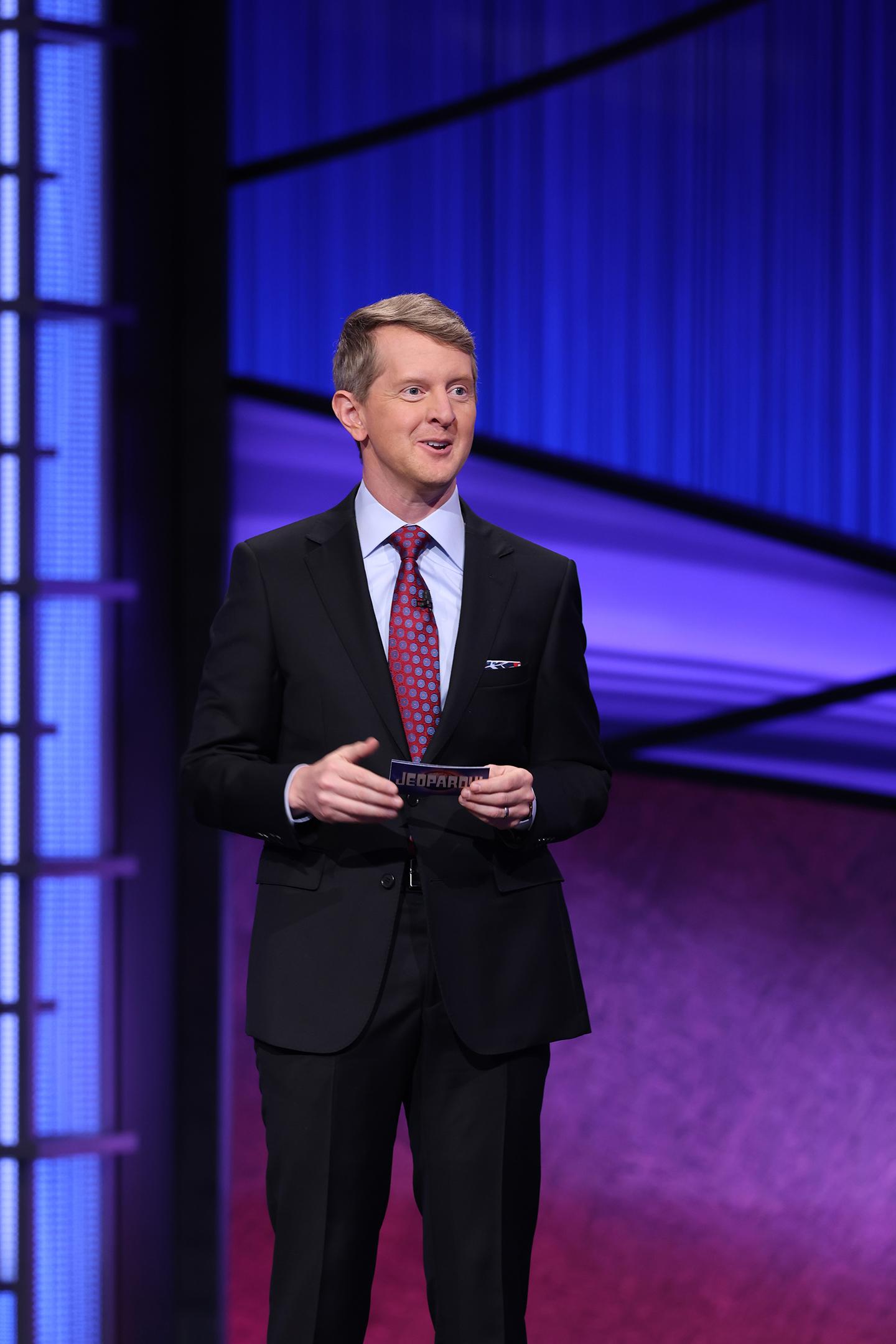 """Ken Jennings on the set of """"Jeopardy!"""""""