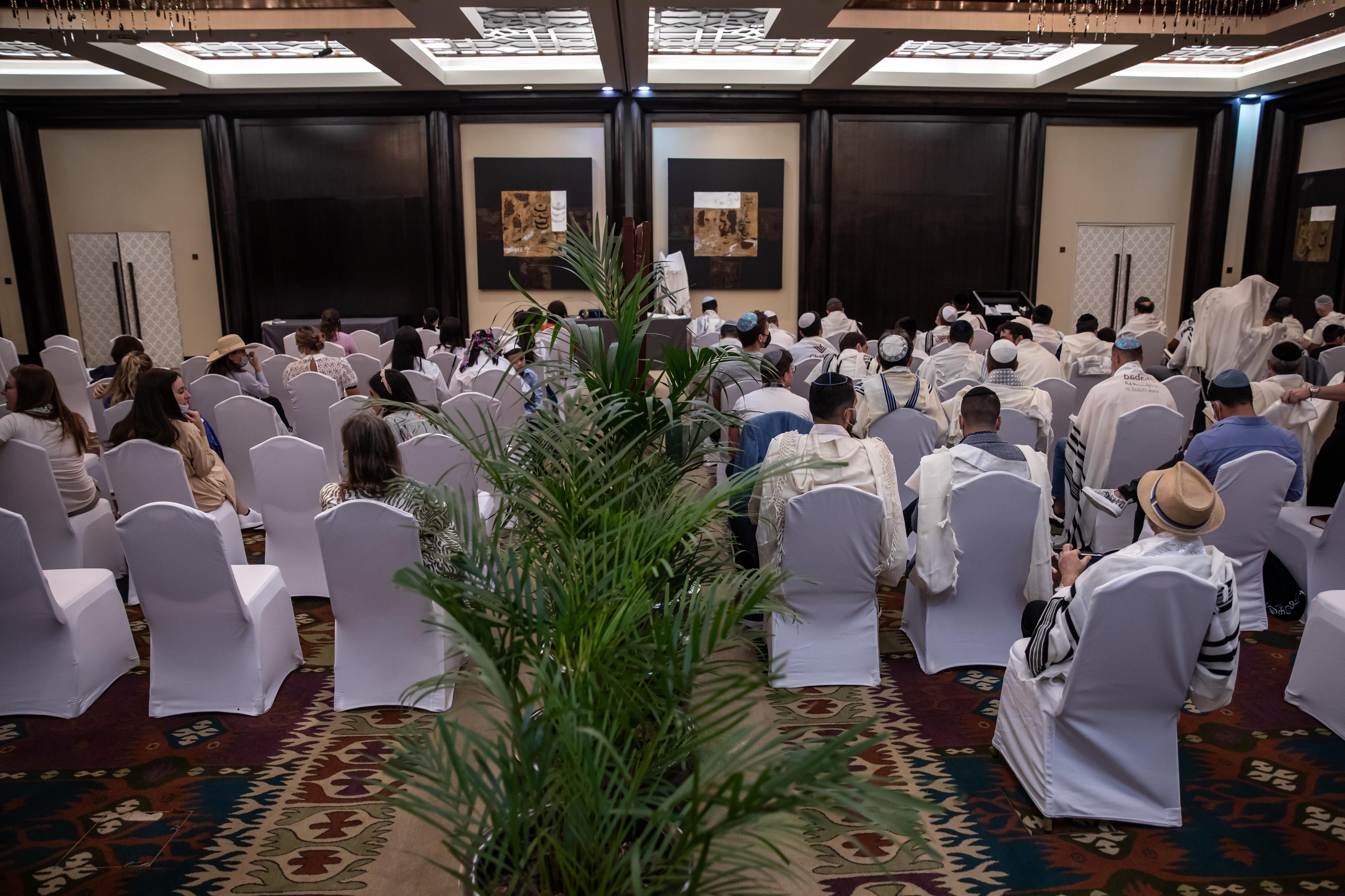 The Jewish Community Center of the United Arab Emirates hosts Yom Kippur prayers in Dubai. Not all Jews go to service on Yom Kippur.