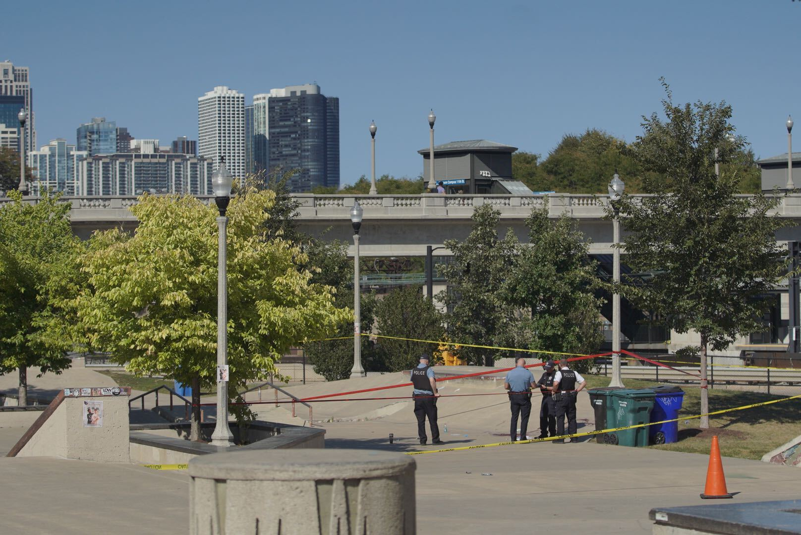 One person was wounded in a shooting Sept. 16, 2021, in the Loop.