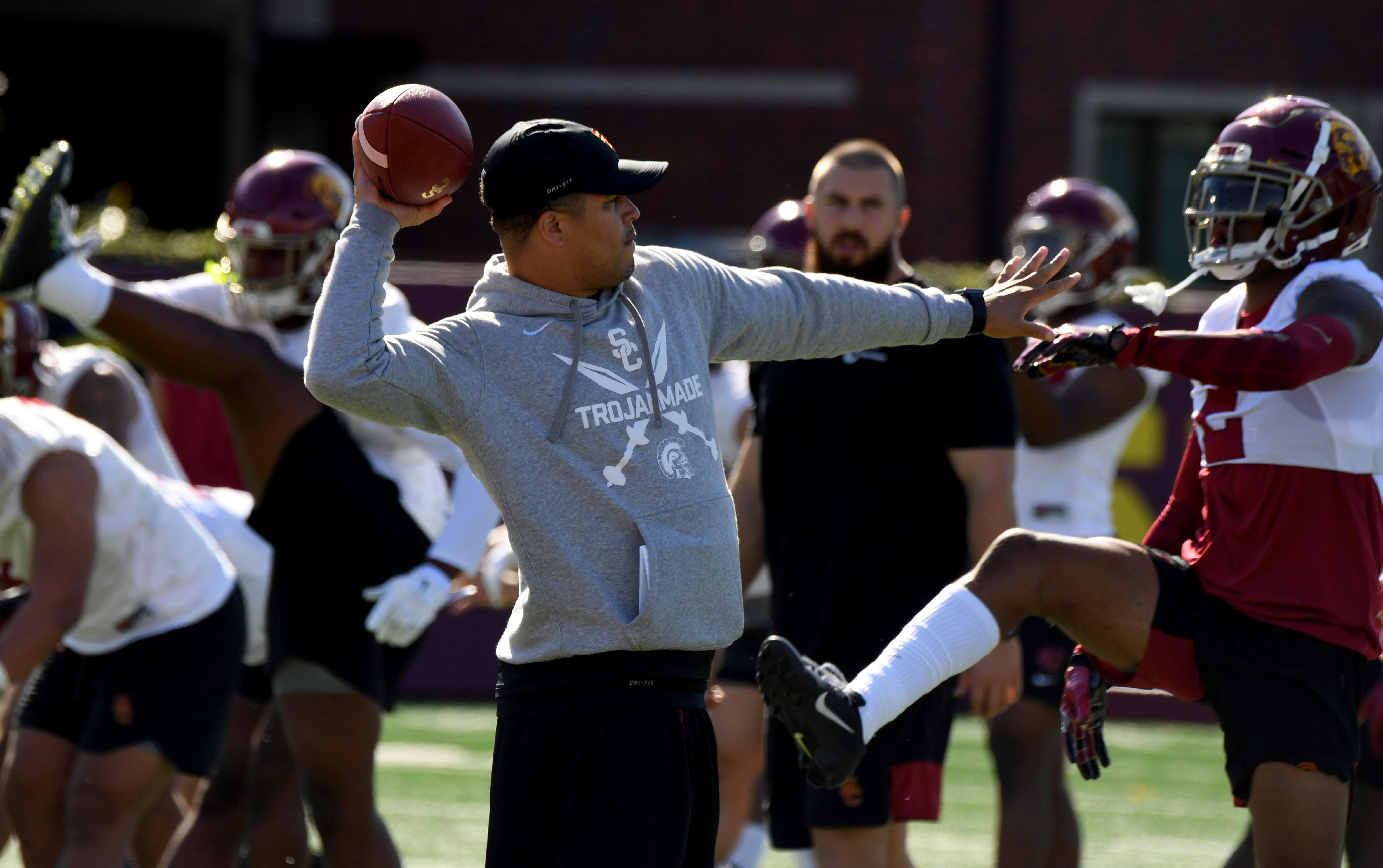 USC Trojans interim head football coach Donte Williams Washington State preview