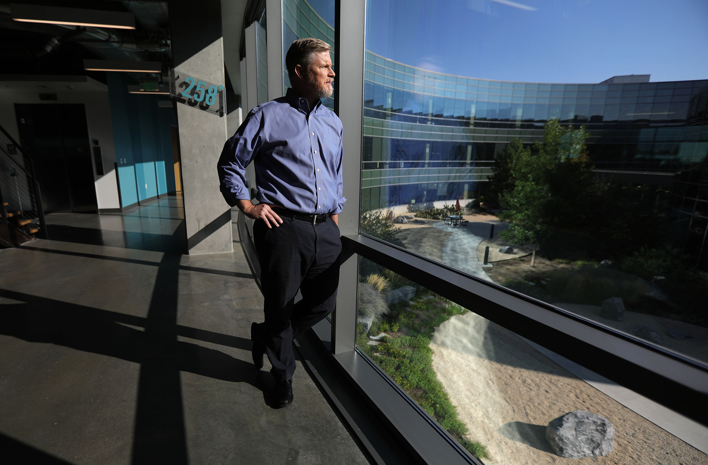 Overstock CEO Jonathan Johnson poses for a portrait at the Overstock headquarters in Midvale on Wednesday, Sept. 15, 2021.