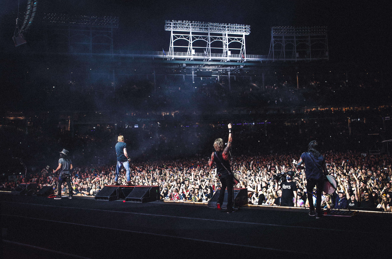 Guns N' Roses performs Thursday night at Wrigley Field.