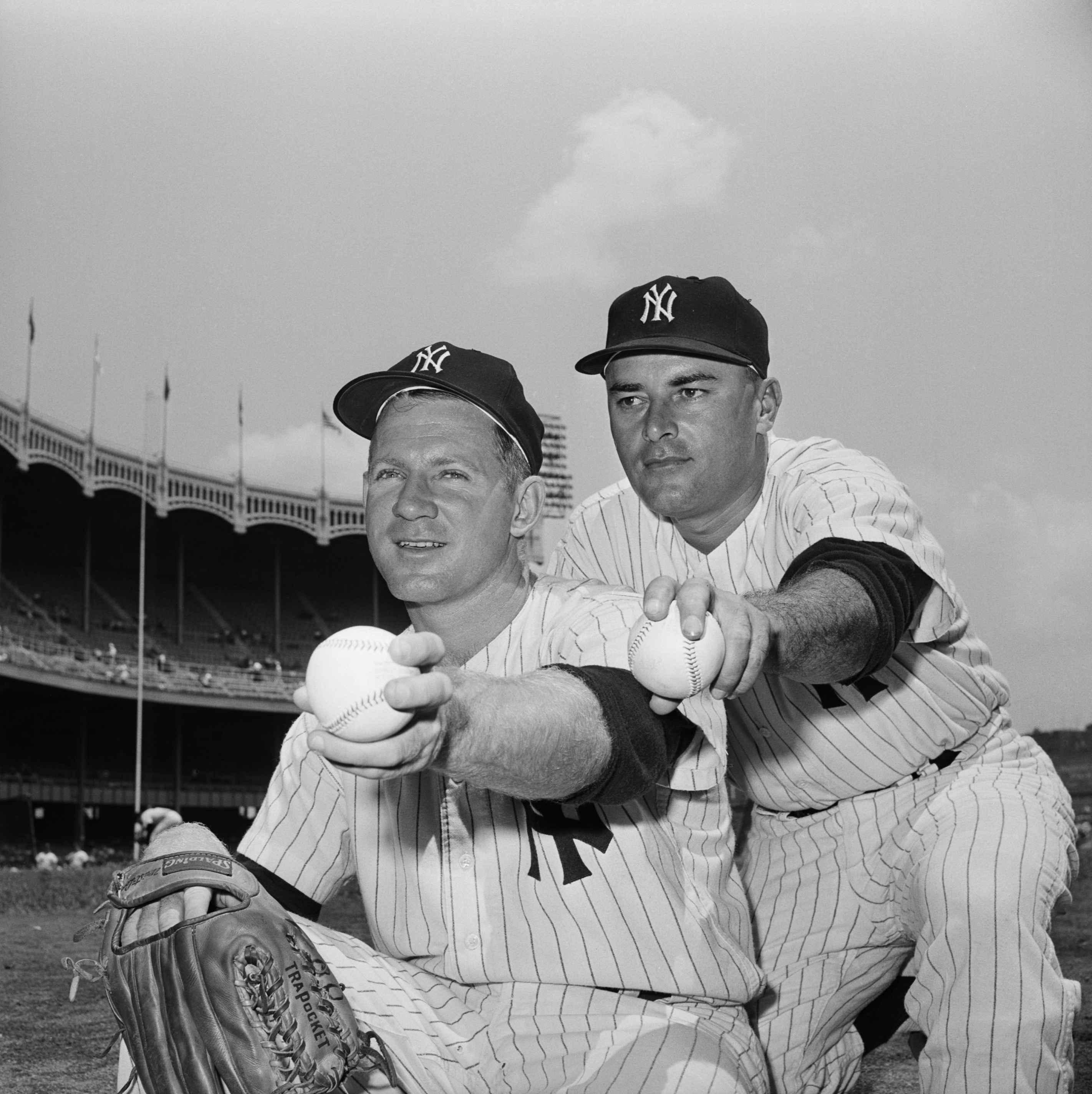 New York Yankees Pitchers Whitey Ford and Luis Arroyo