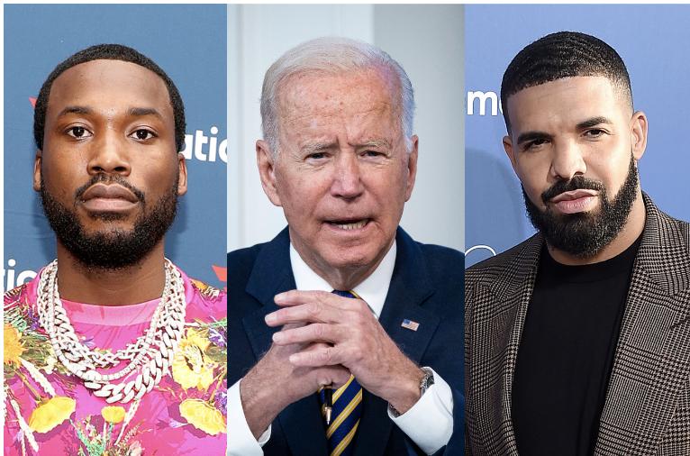 Meek Mill, Joe Biden, Drake