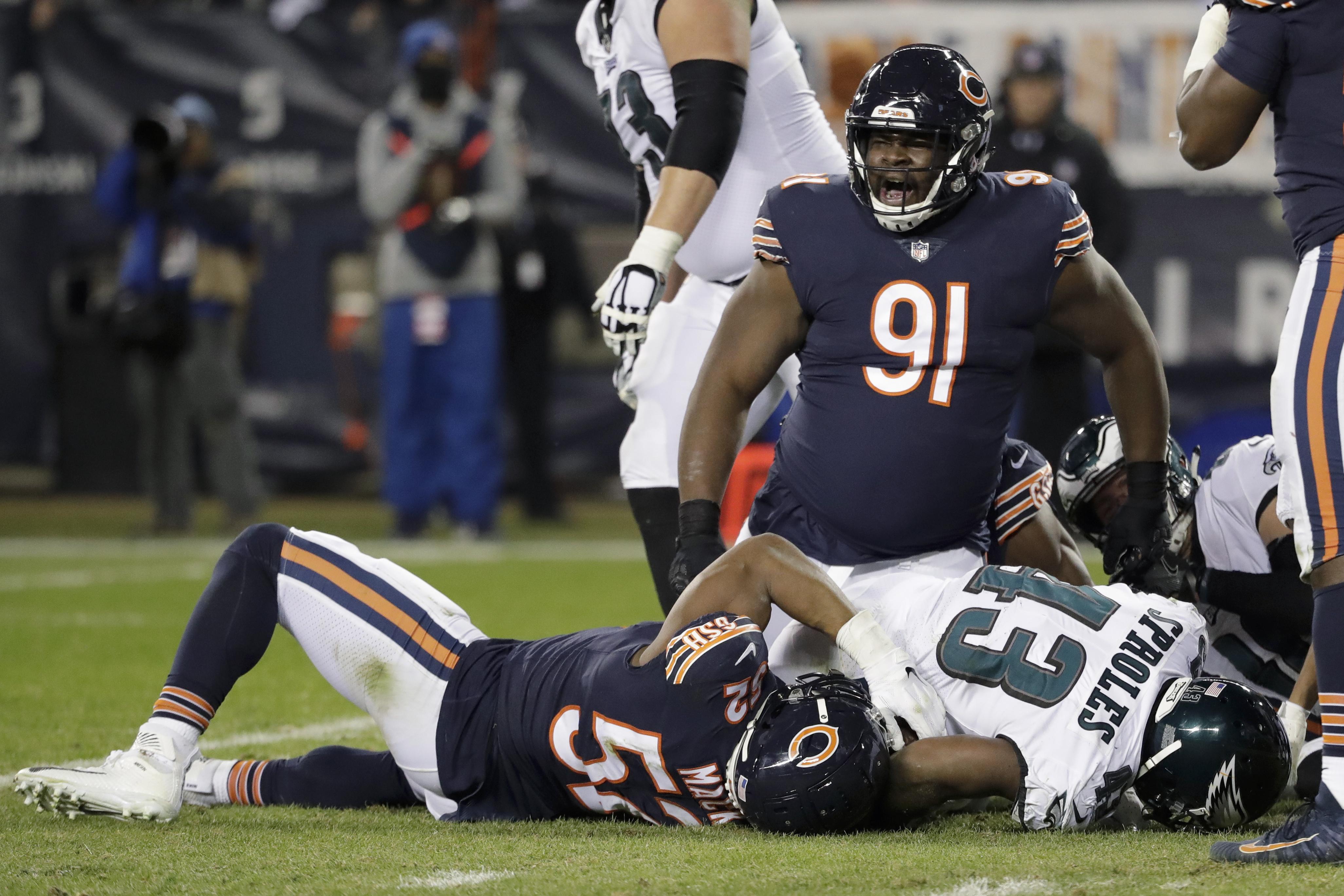 Eddie Goldman (91) has not played for the Bears since Week 17 of the 2019 season against the Vikings.