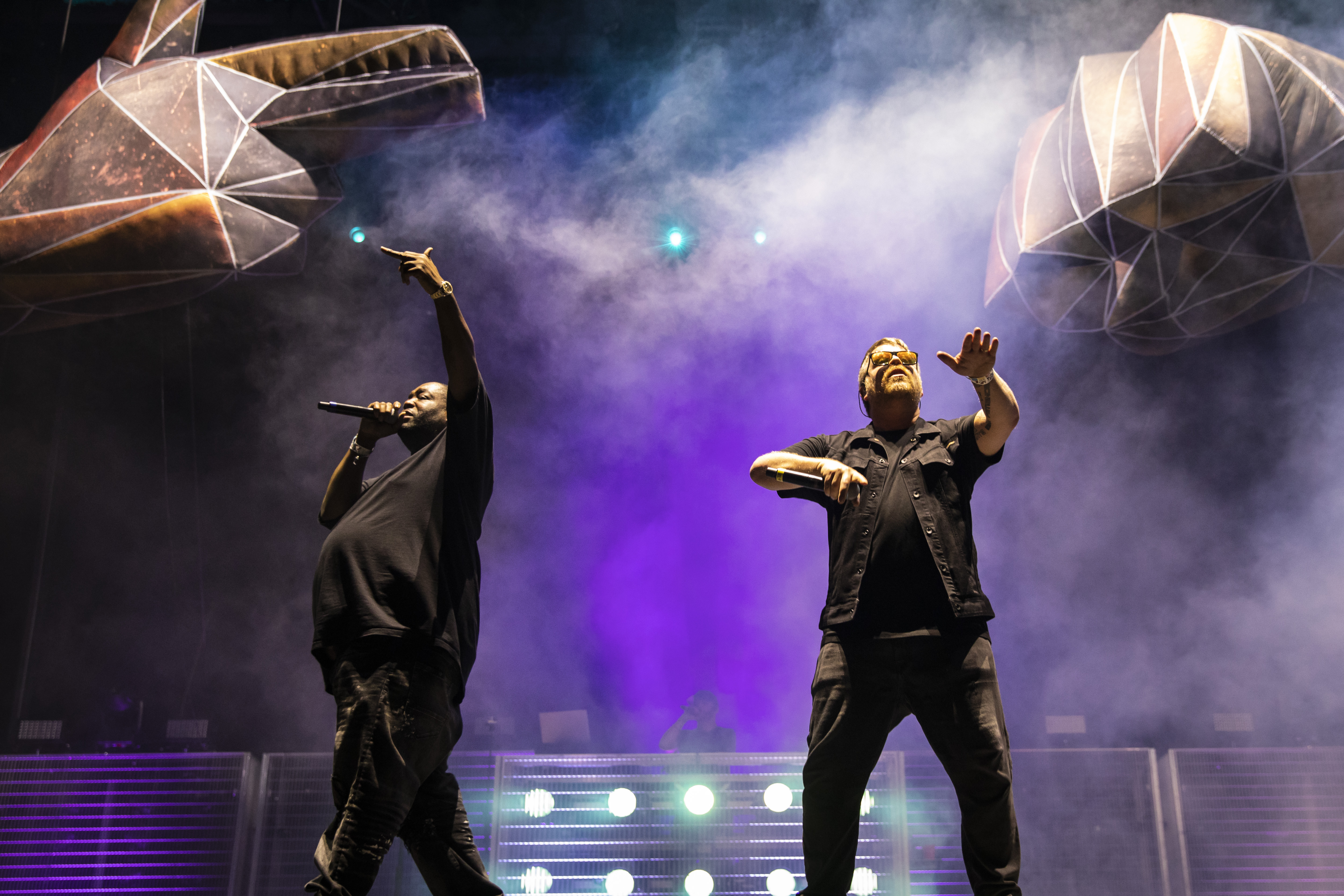 Killer Mike and El-P, of Run the Jewels, perform on Day 3 of Riot Fest in Douglass Park.