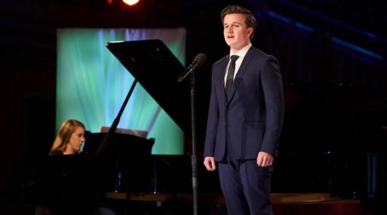 Erick Mosteller sings for the 2021 Church Music Festival.