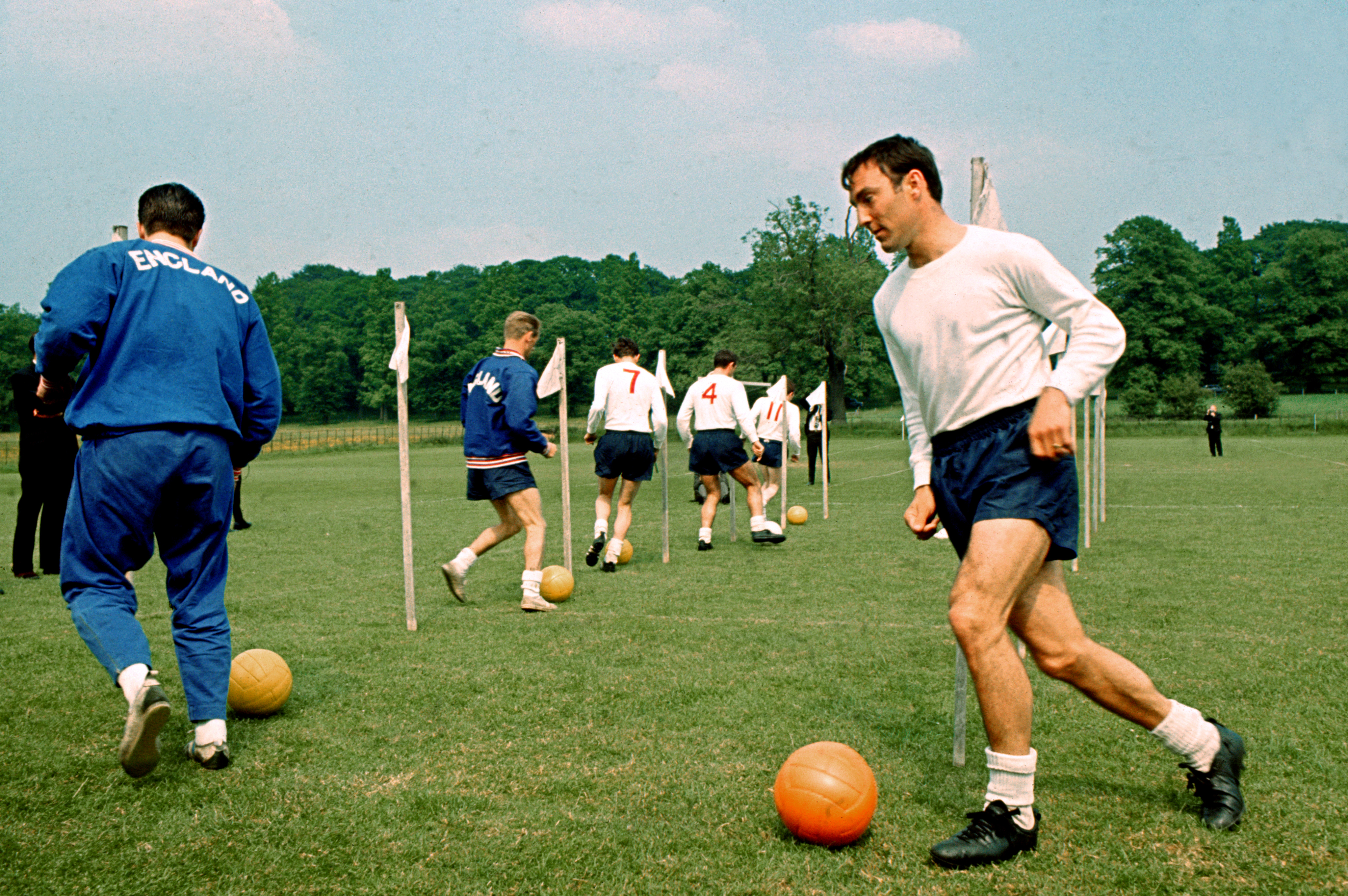 Soccer - World Cup England 66 - England Possibles Training - Lilleshall